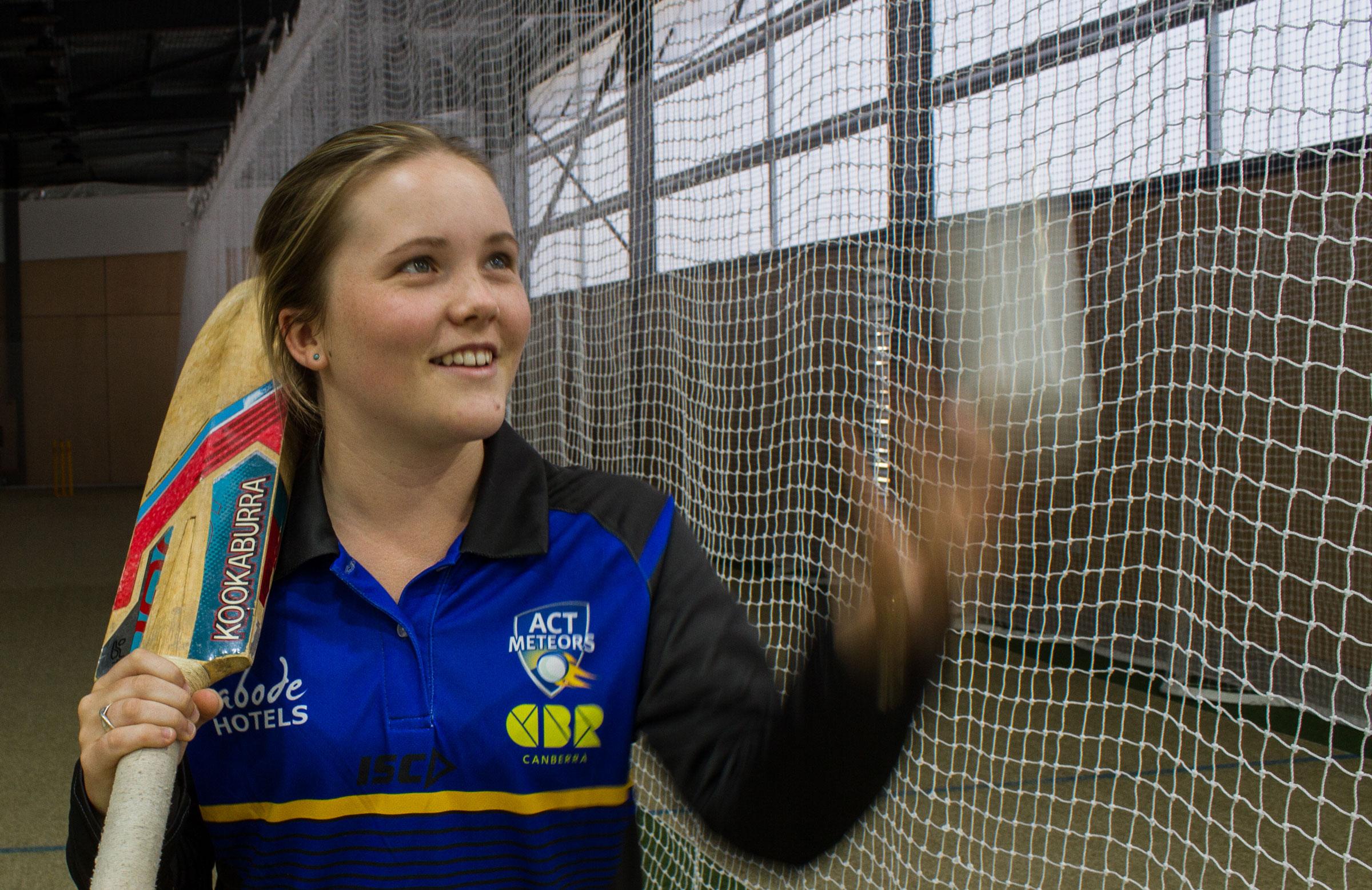 Meteors newcomer Matilda Lugg // Cricket ACT