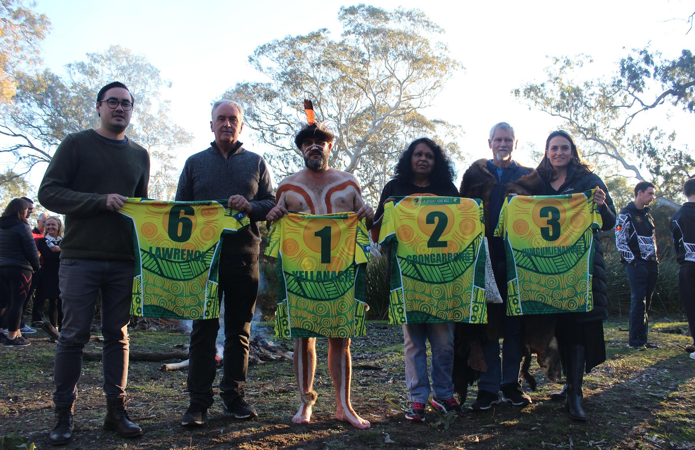 Aboriginal XI uniforms with the names of the 1868 tourists // cricket.com.au