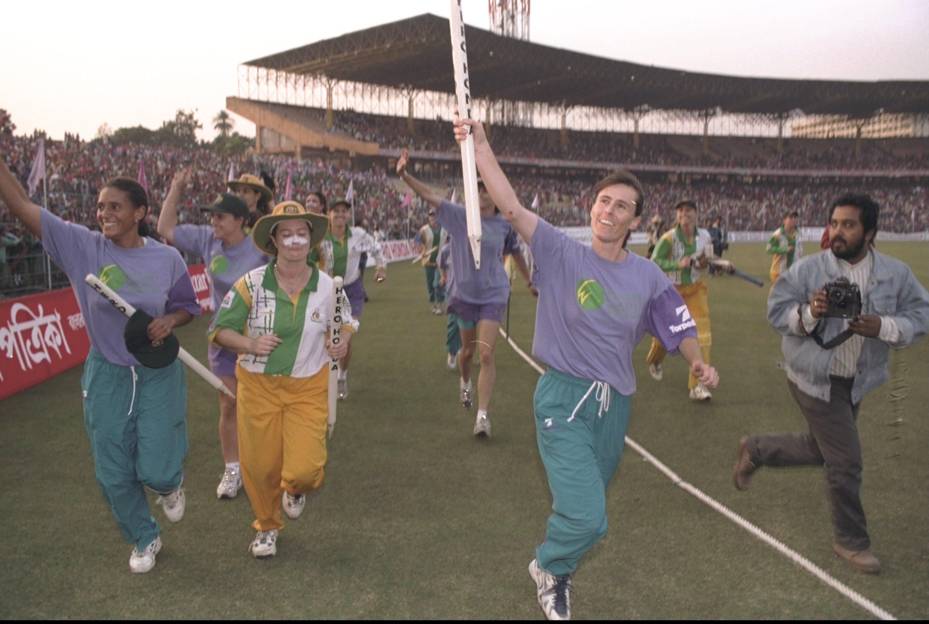 Australia celebrate winning the 1997 World Cup // Getty