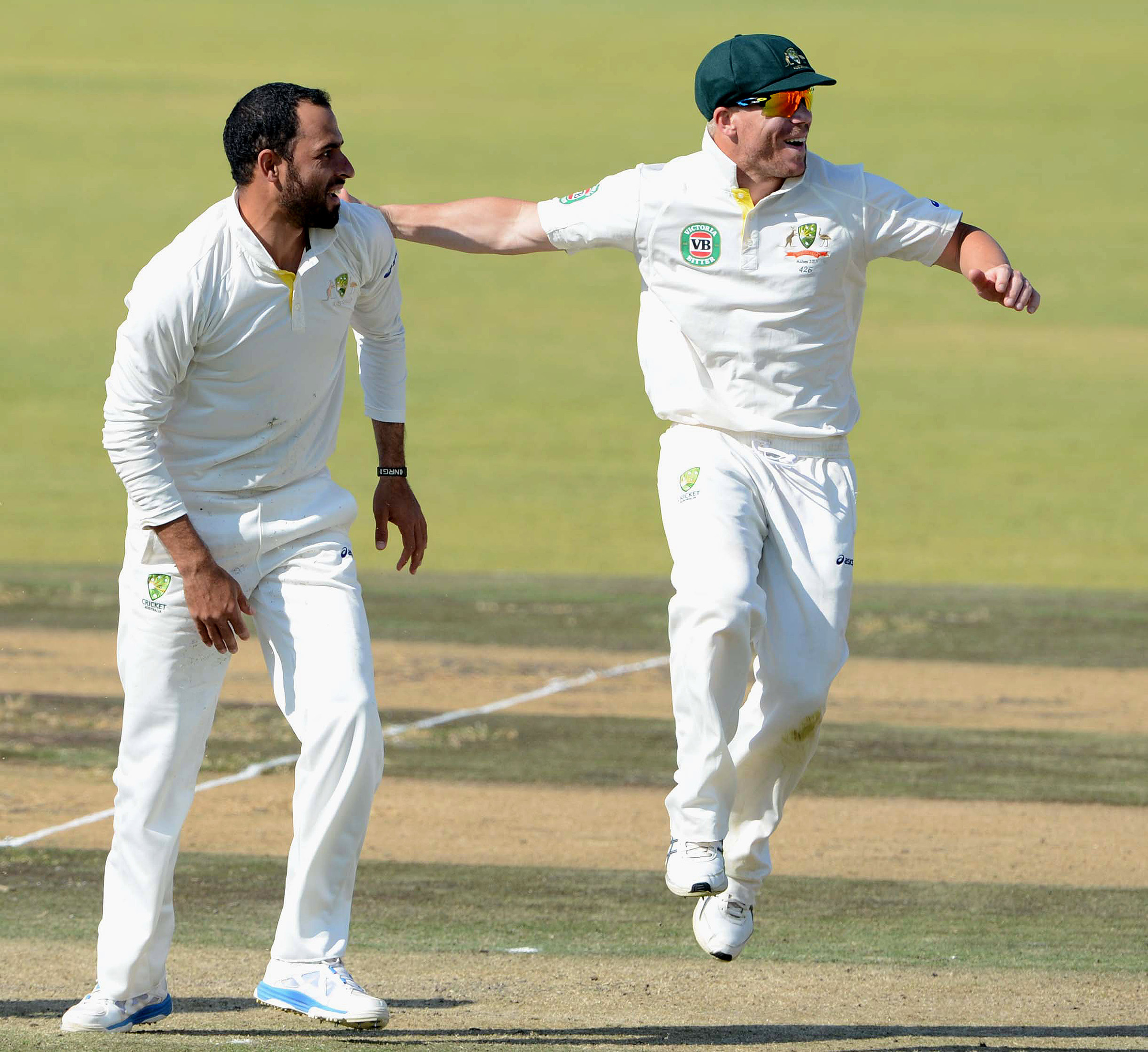 Fawad and Warner on the 2013 A tour of Africa // Getty