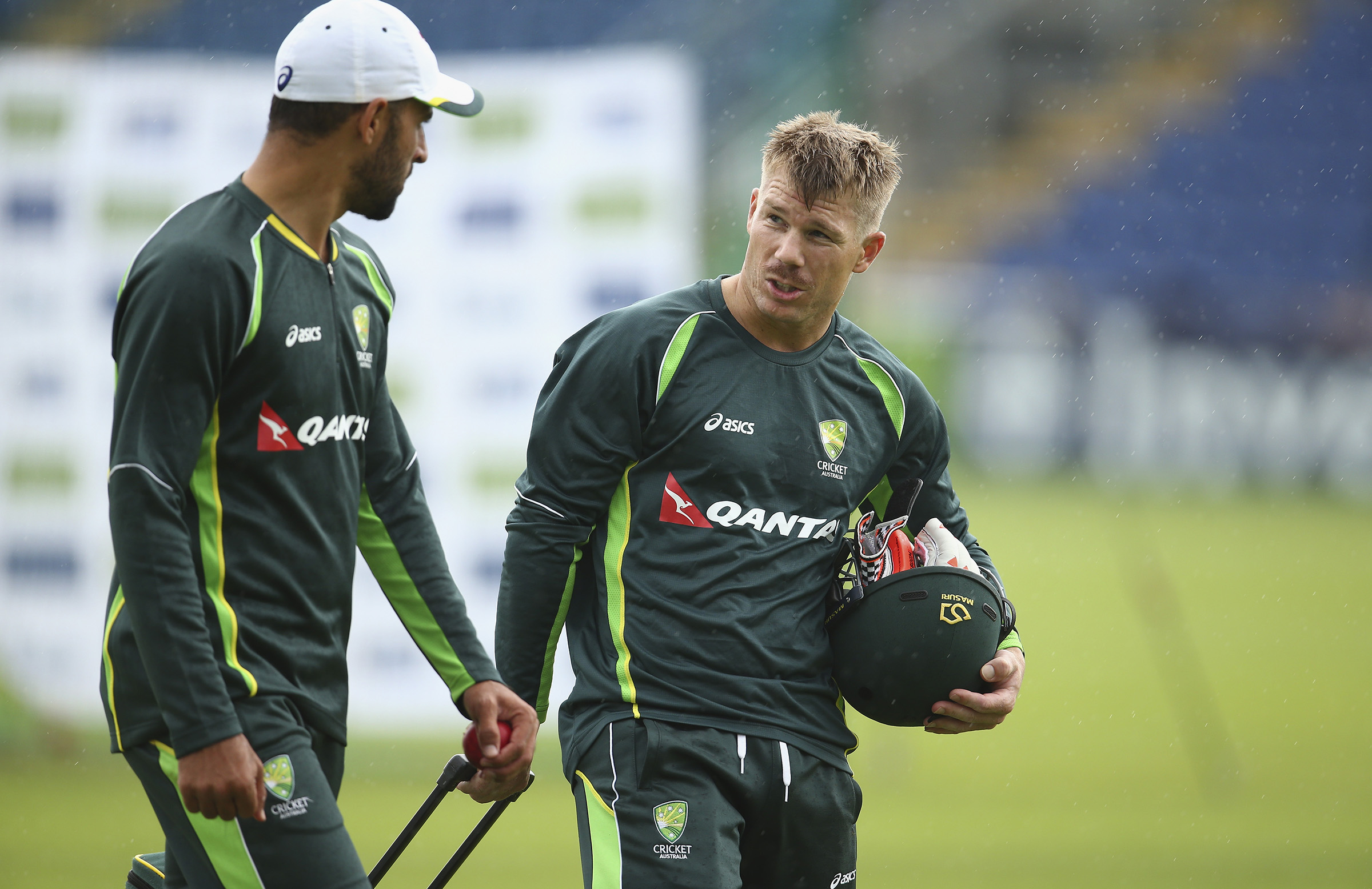 Fawad and Warner in England in 2015 // Getty