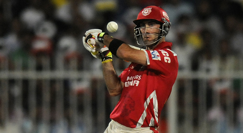 Maxwell in action during the 2014 IPL // BCCI