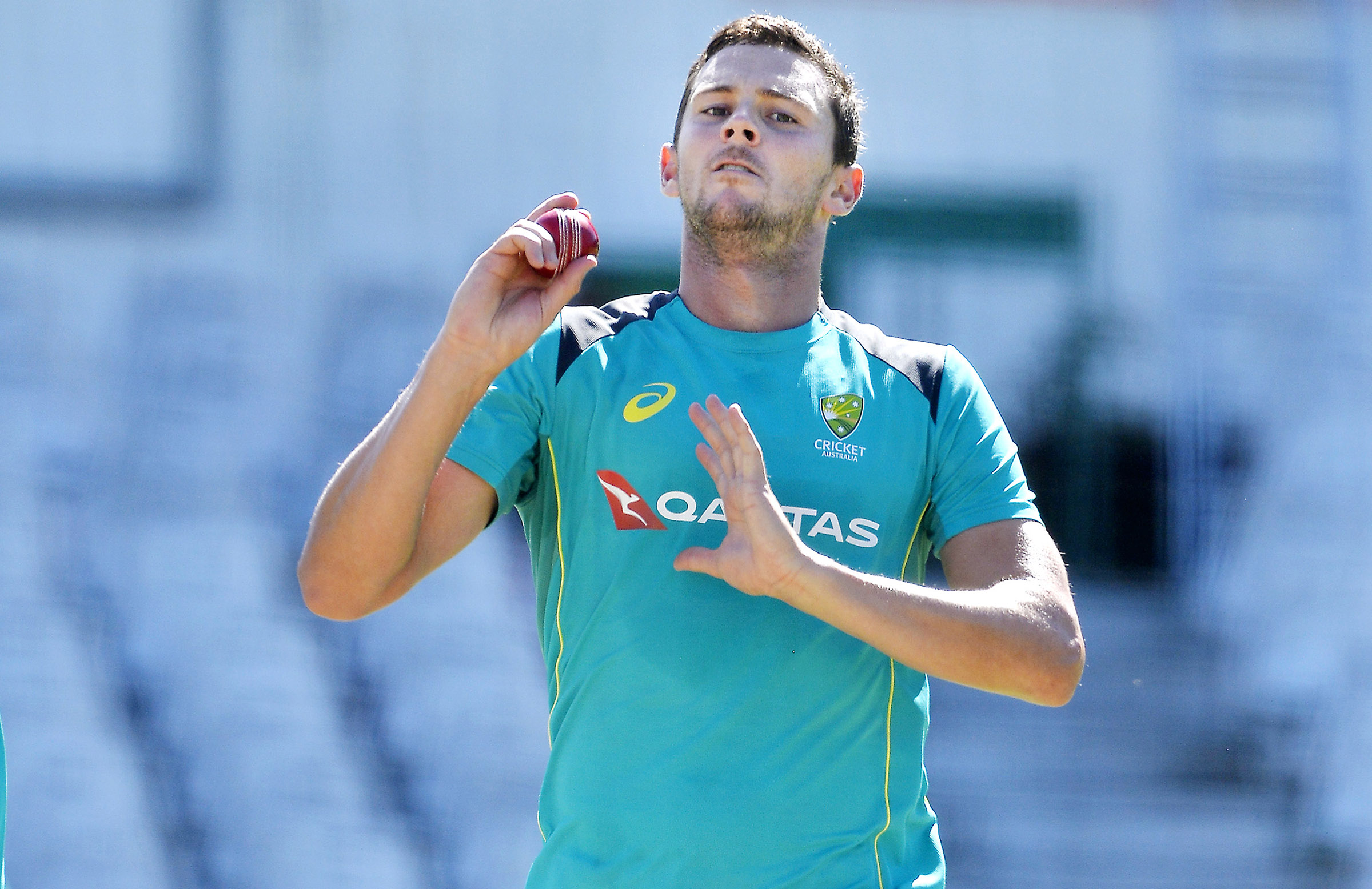 Hazlewood will have a red ball back in his hand soon // Getty