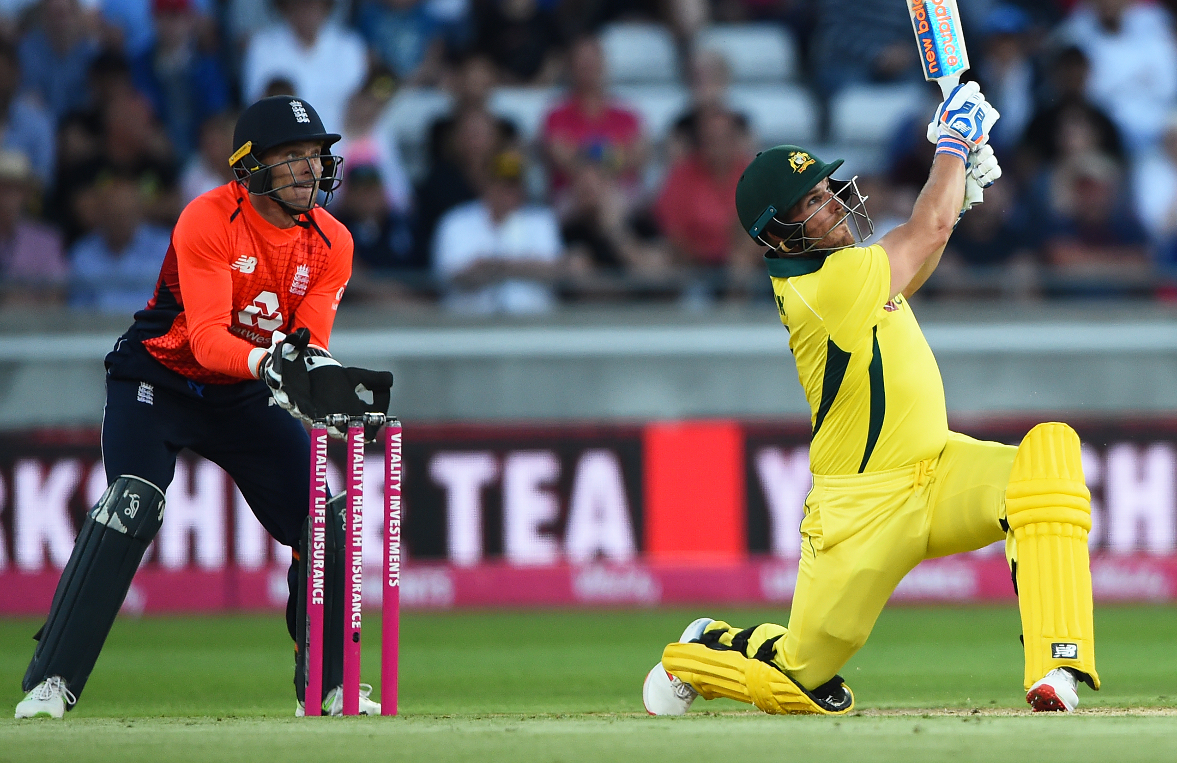 Finch belted six sixes in his 41-ball 84 // Getty