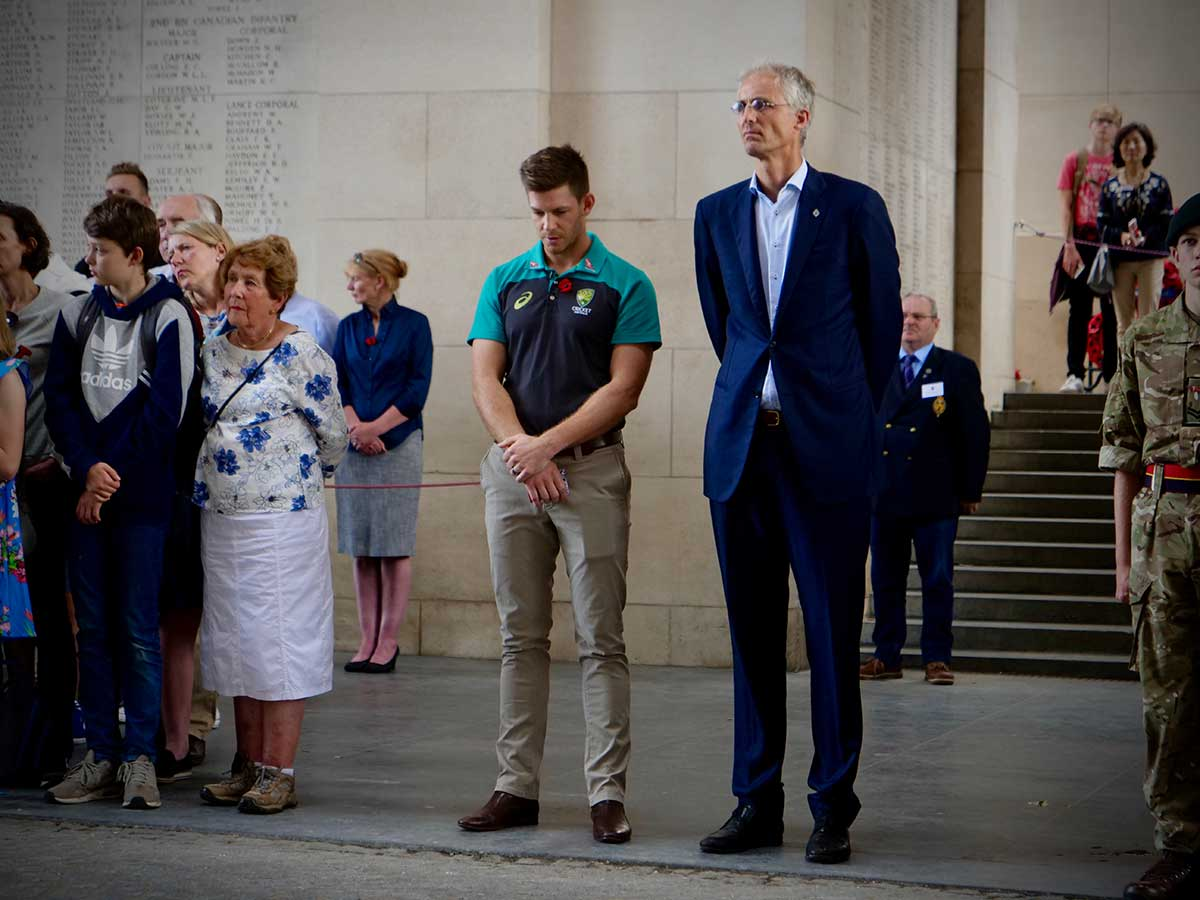 Tim Paine read out the Ode to Remembrance // cricket.com.au