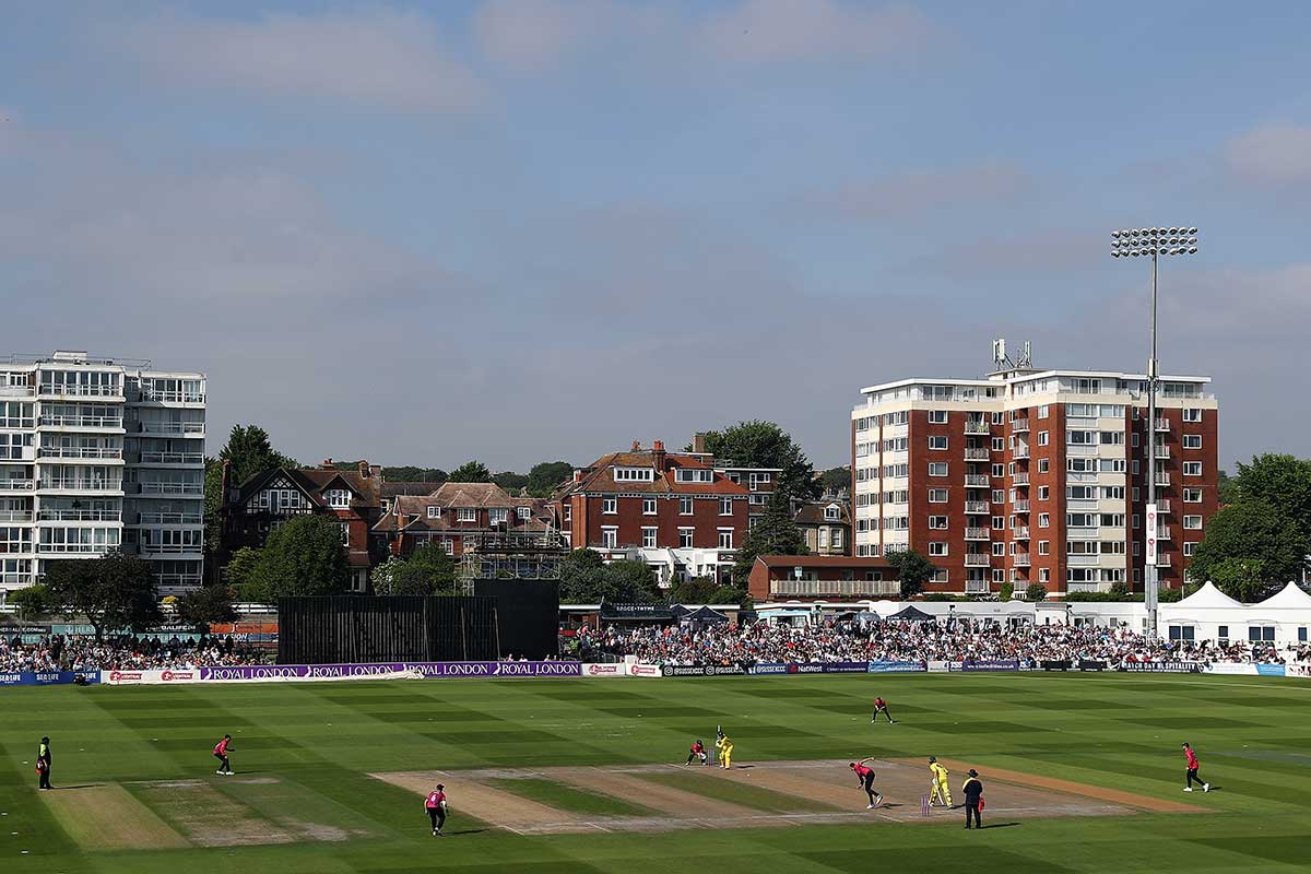 The Aussies in action at Hove // Getty