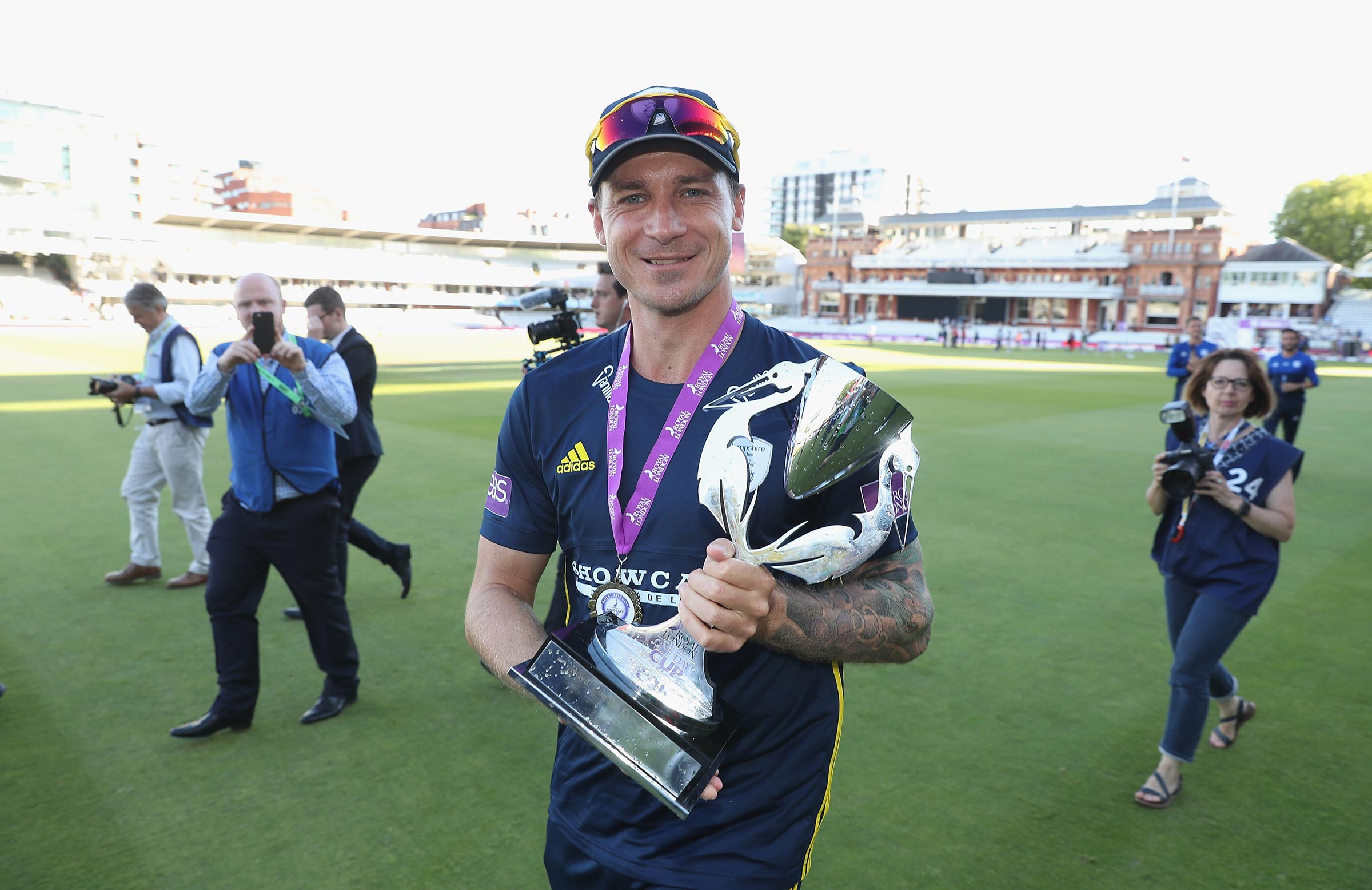 Steyn with the silverware // Getty