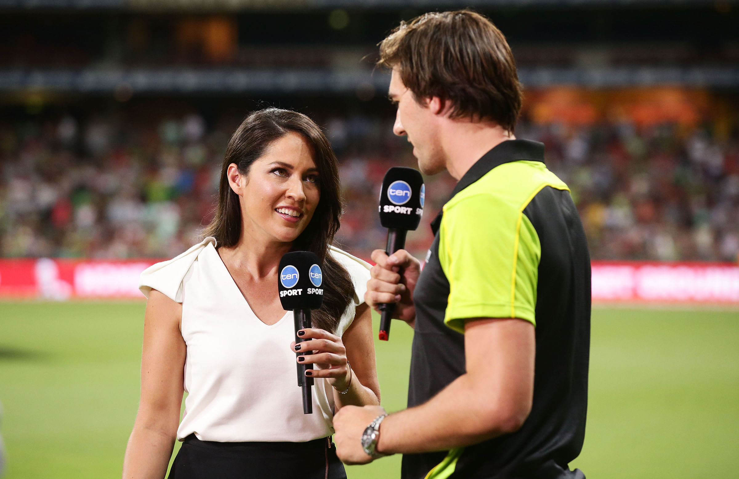 Mel McLaughlin has joined Seven since hosting Ten's BBL coverage // Getty