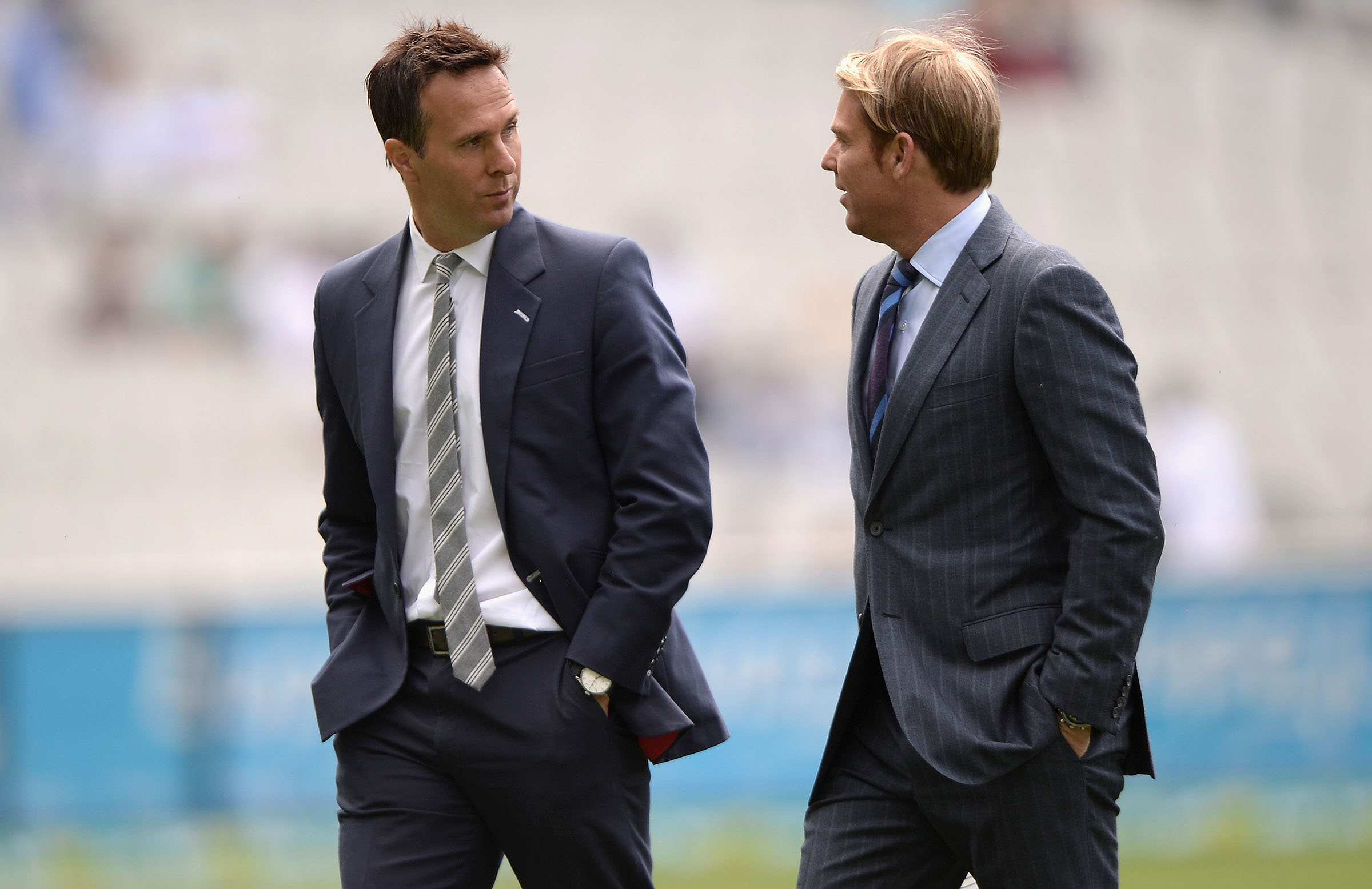Former Ashes rivals, Vaughan and Warne have joined Fox // Getty