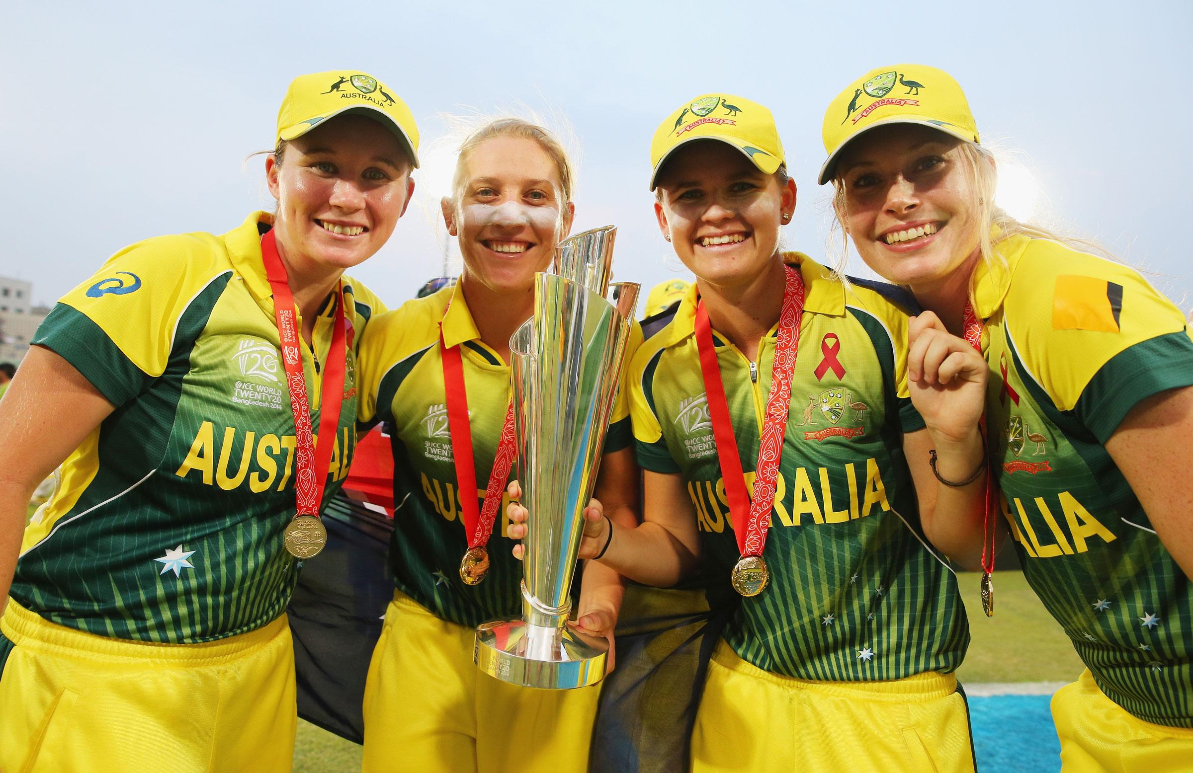 Kimmince was part of Australia's 2014 World T20 win // Getty