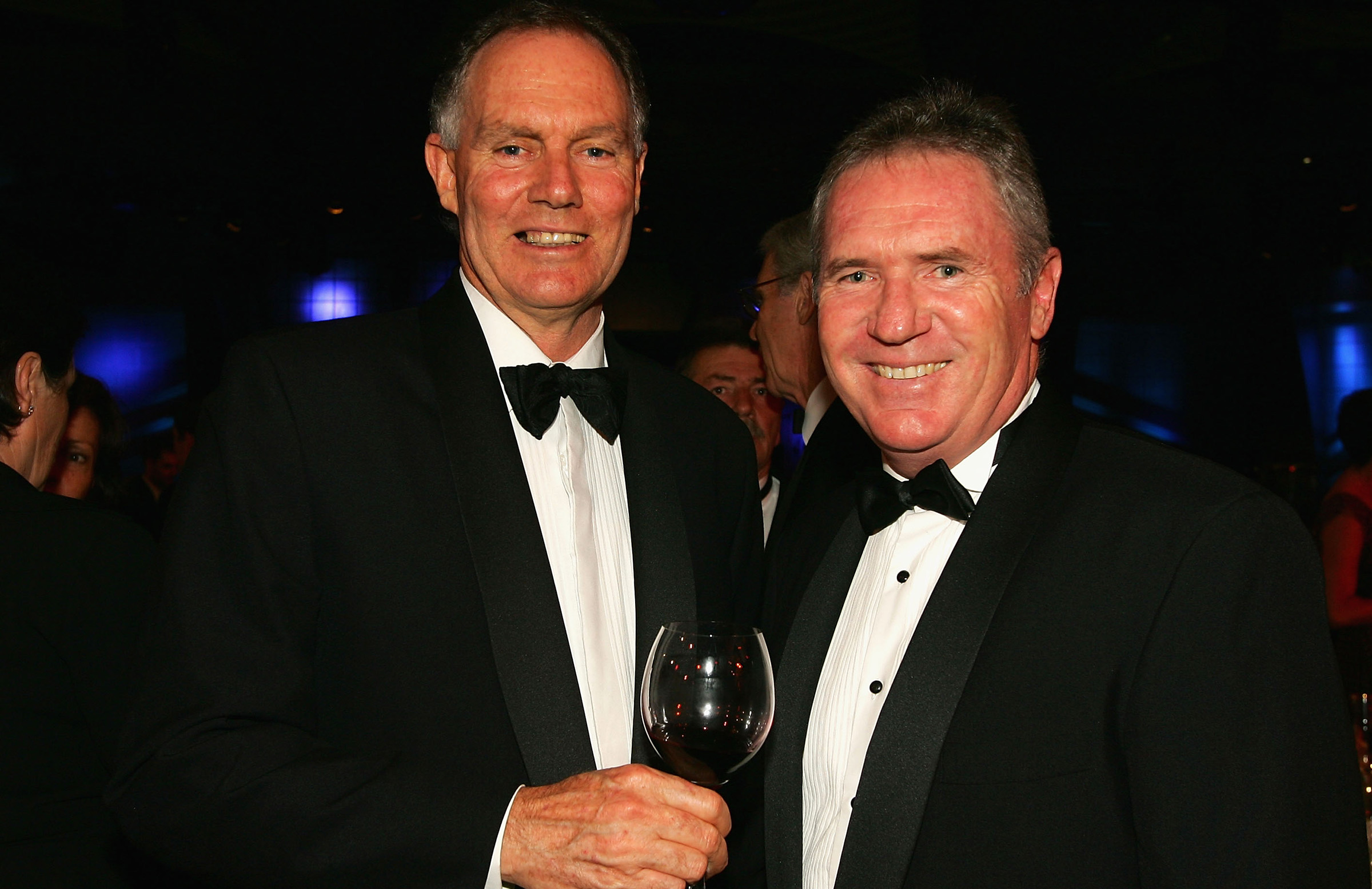 With former teammate Allan Border in 2005 // Getty