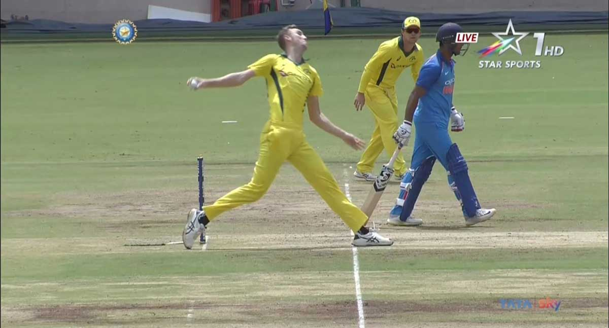 Stanlake was called for a no ball // Supplied