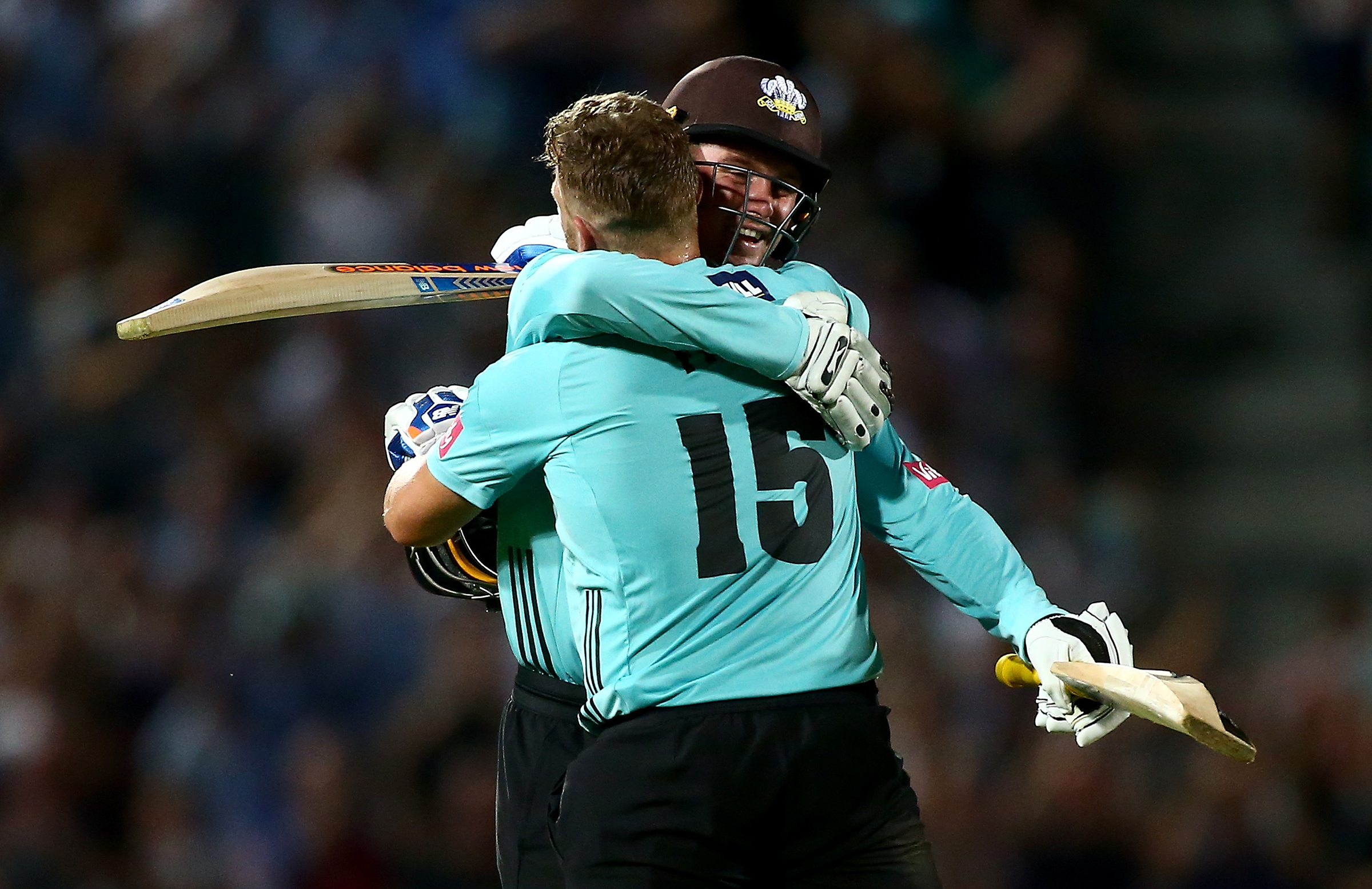 Finch embraces Roy after reaching his ton // Getty