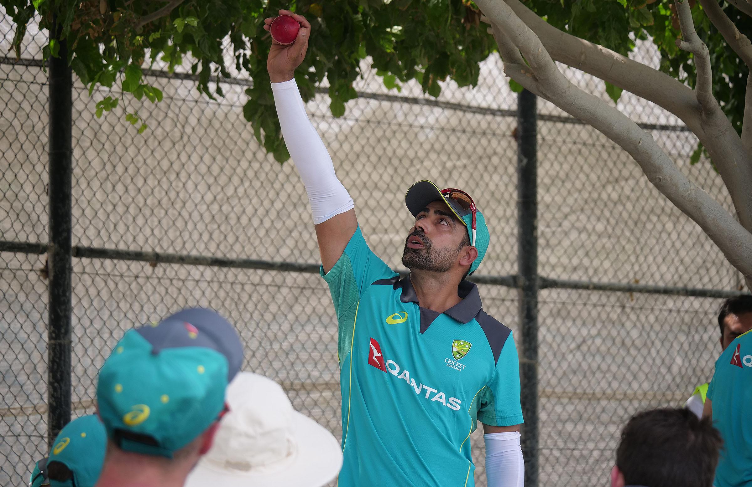 Sahu explains the finer points of spin bowling in Dubai // cricket.com.au