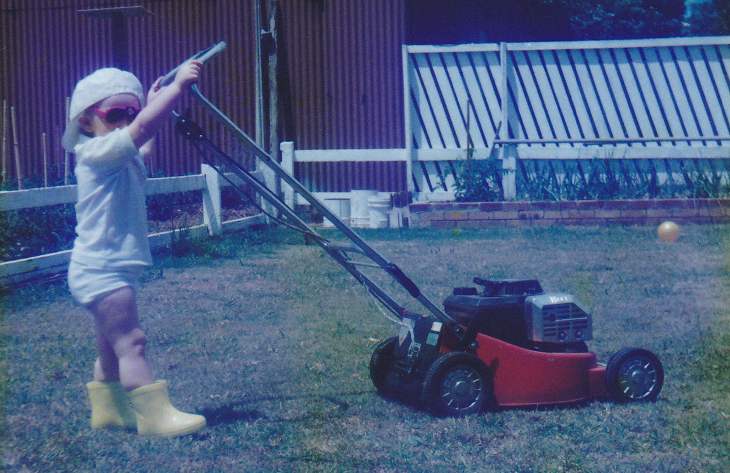 Backyard chores as a youngster in Albury-Wodonga