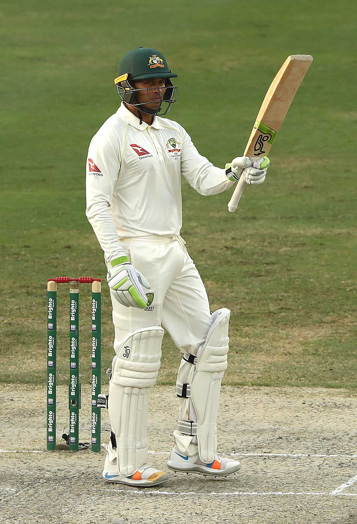 Khawaja salutes his second-innings fifty // Getty