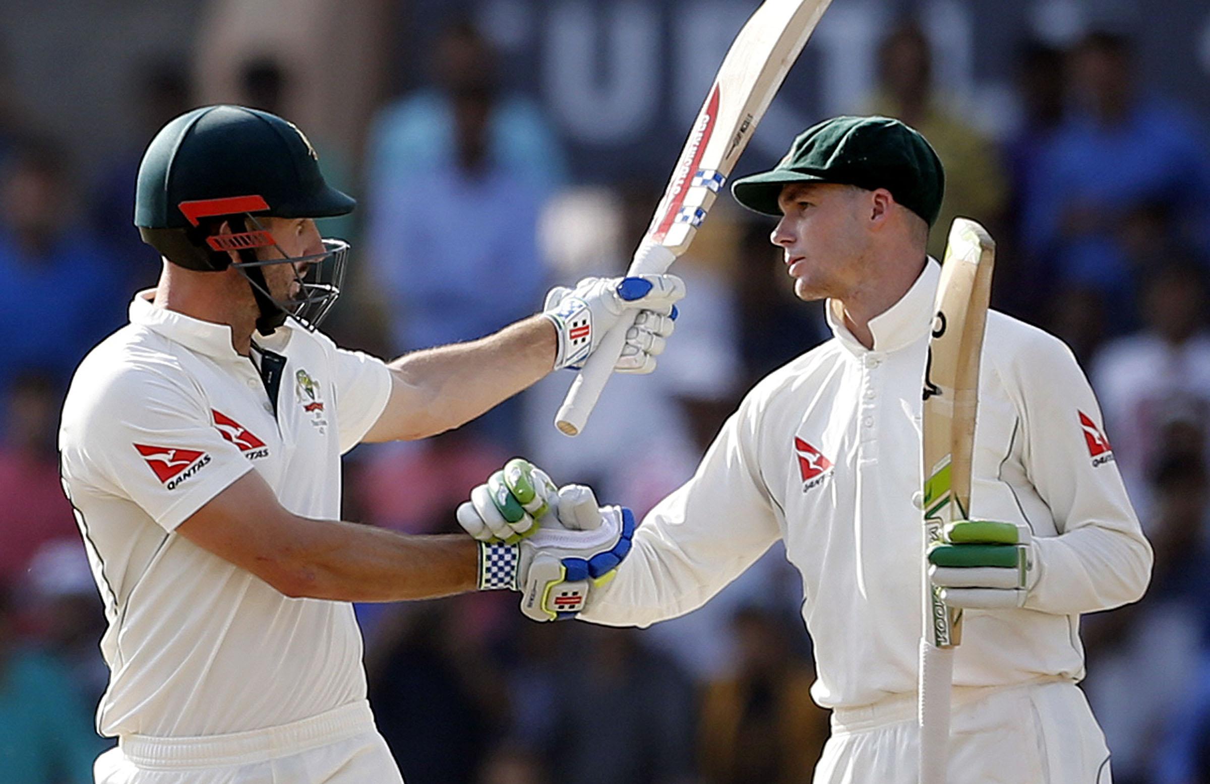 Australia's batting heroes in Ranchi // AAP