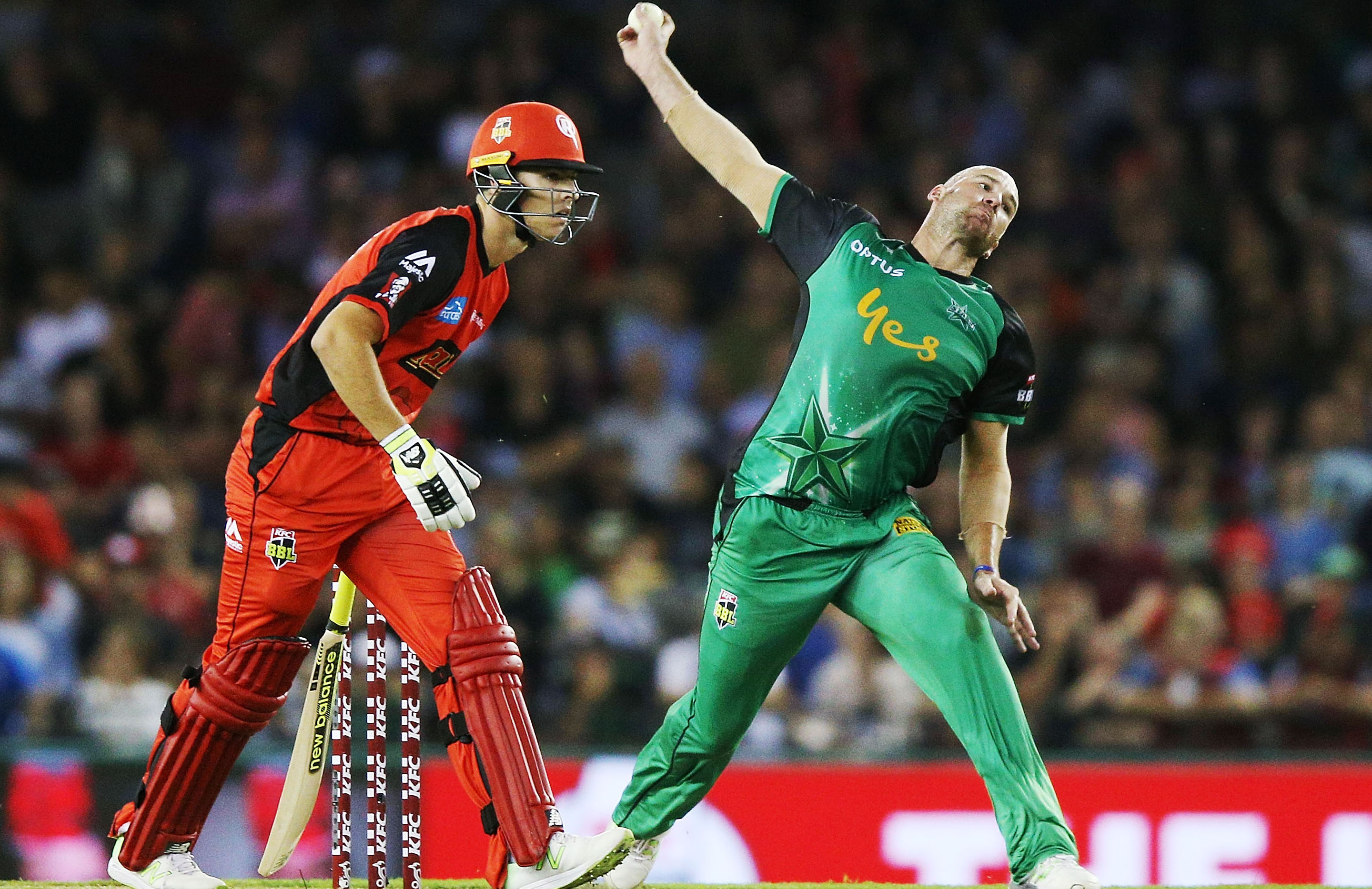 John Hastings in full flight during his days at the Melbourne Stars // Getty