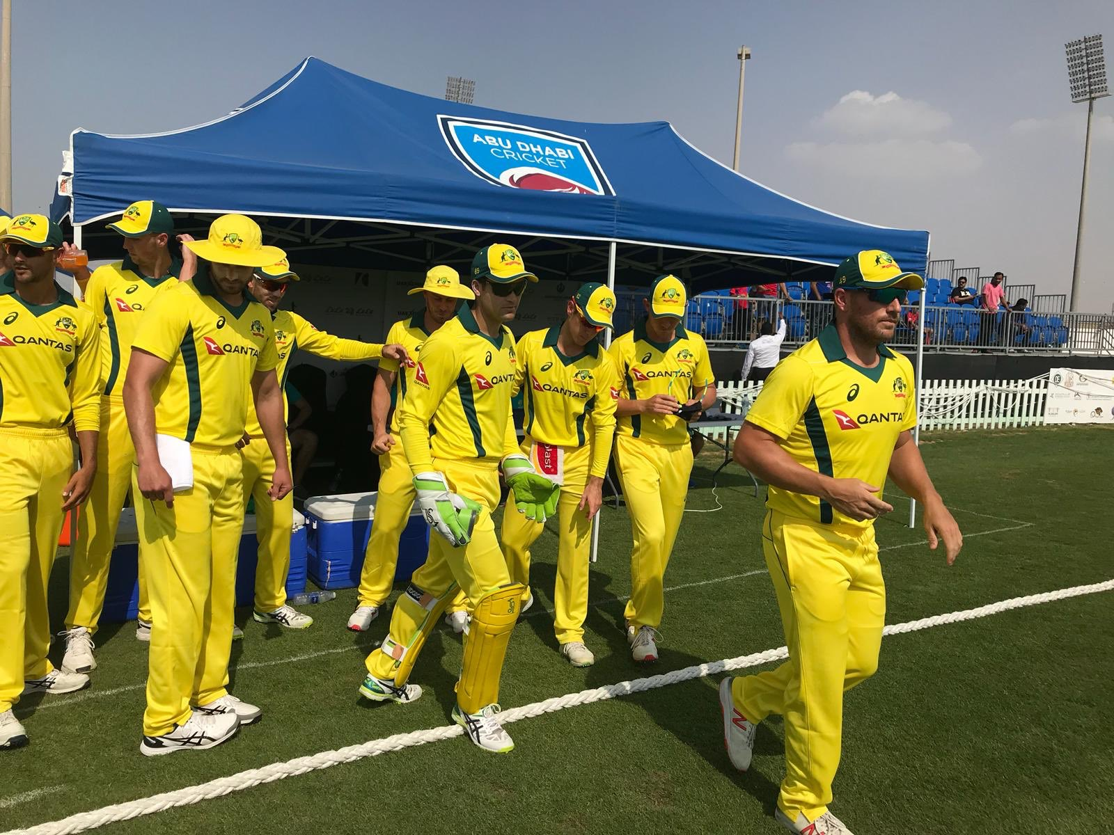Finch leads the Aussies out // Cricket Network