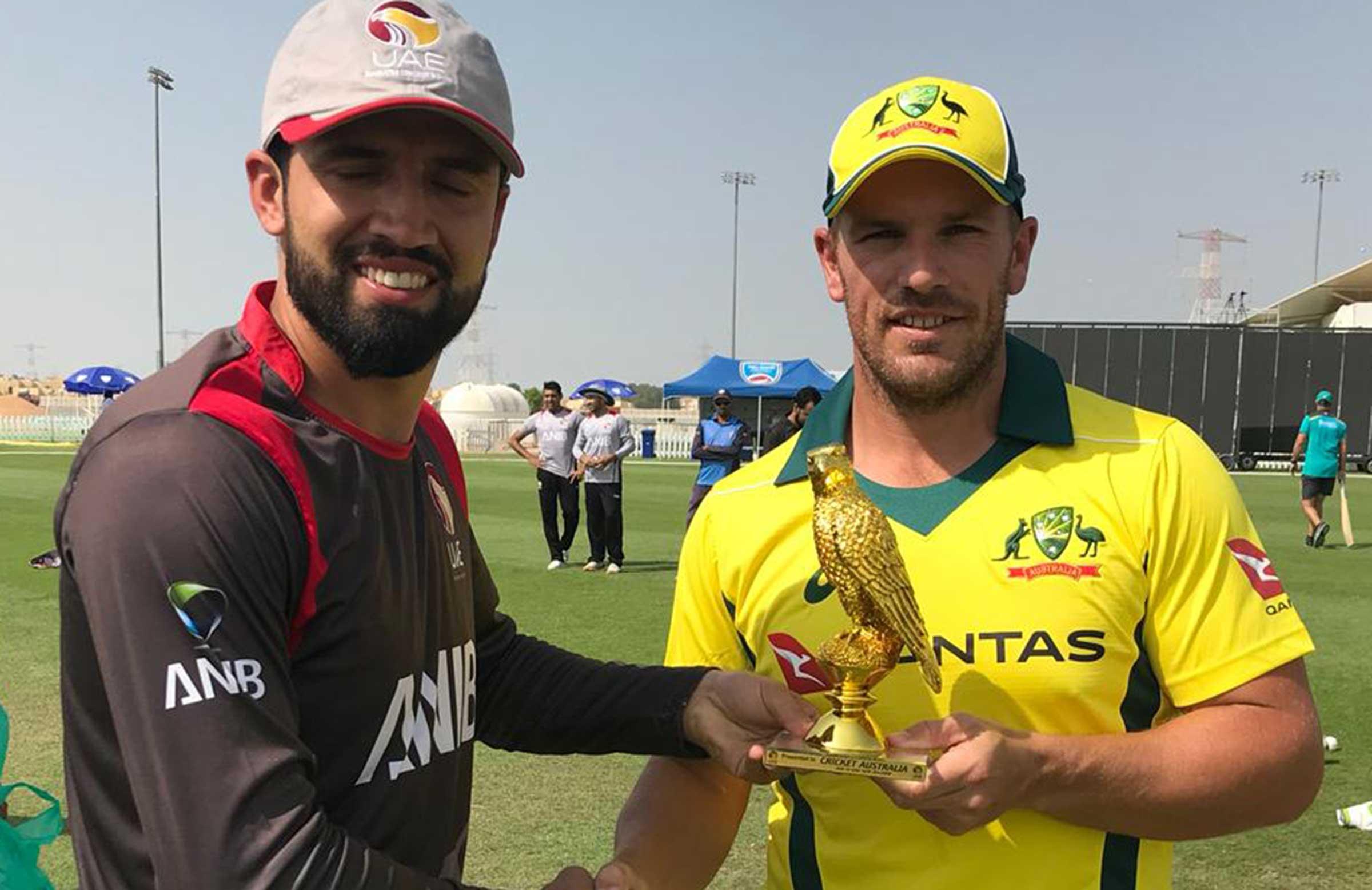 Captains Rohan Mustafa and Aaron Finch // Cricket Network