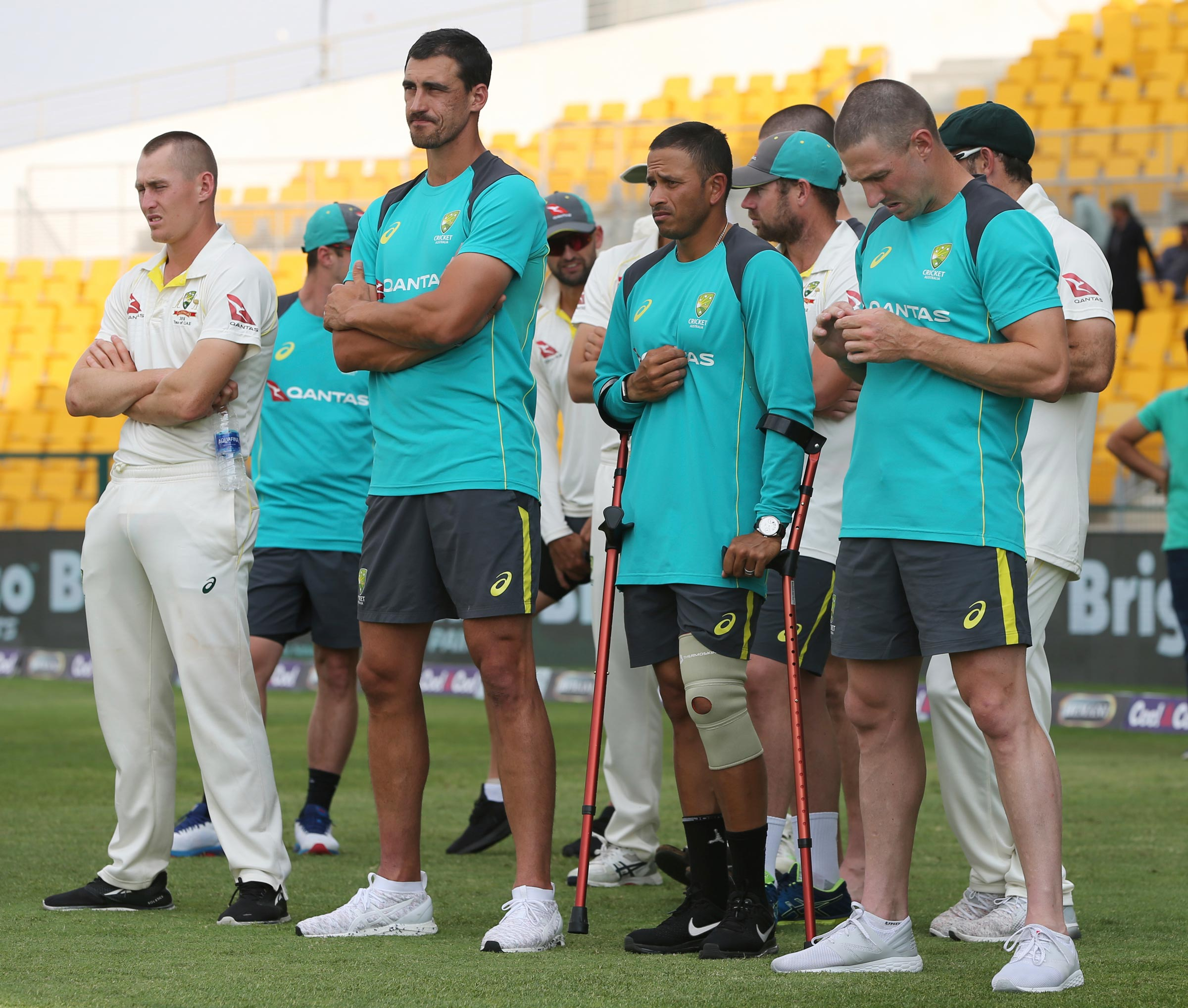 Khawaja finished the series on crutches // AAP