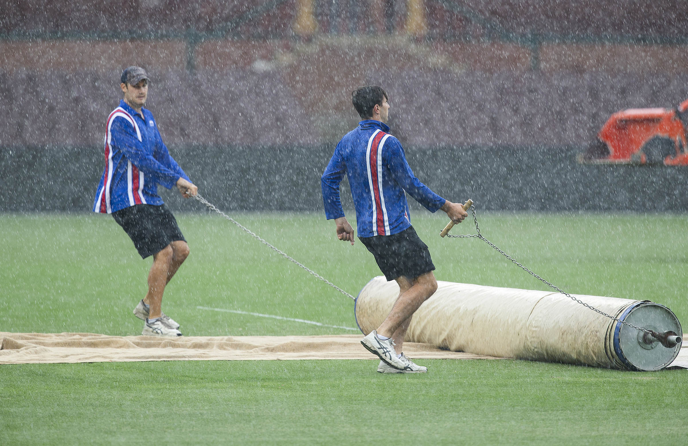Heavy rain meant only 4.3 overs of play were possible on day three // Getty