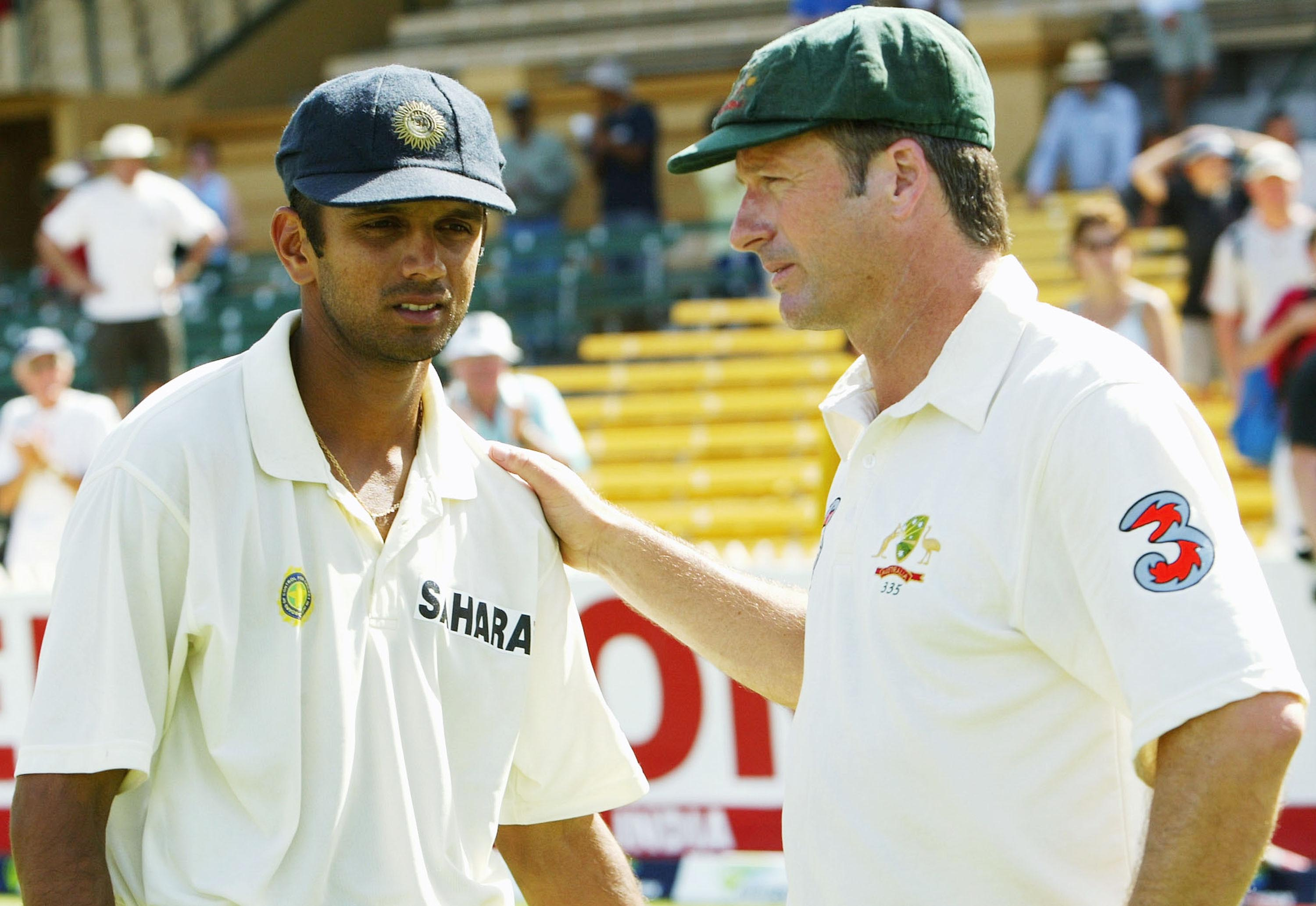 With Indian champion Rahul Dravid // Getty