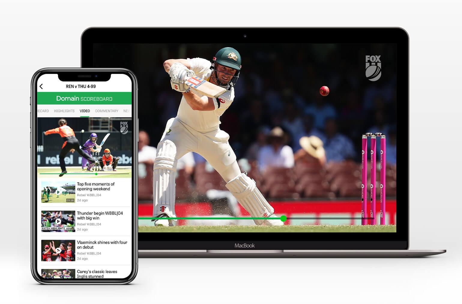 Stream Kayo through cricket.com.au or the CA Live app
