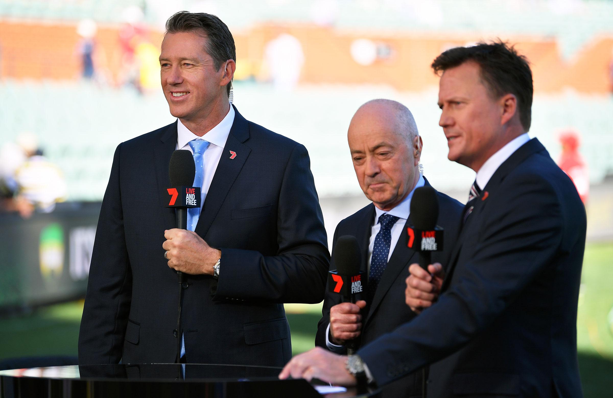 Glenn McGrath, Tim Lane & James Brayshaw // Getty Images