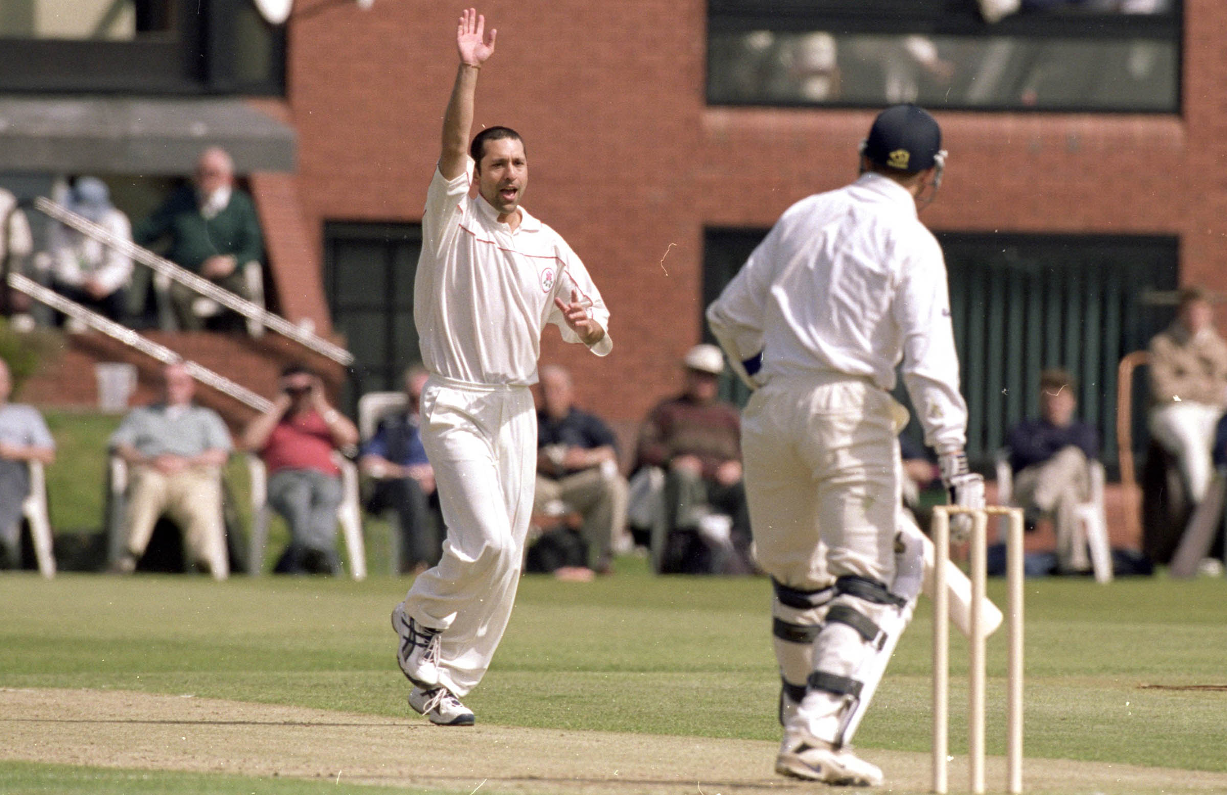 During his playing days with Lancashire, 2000 // Getty