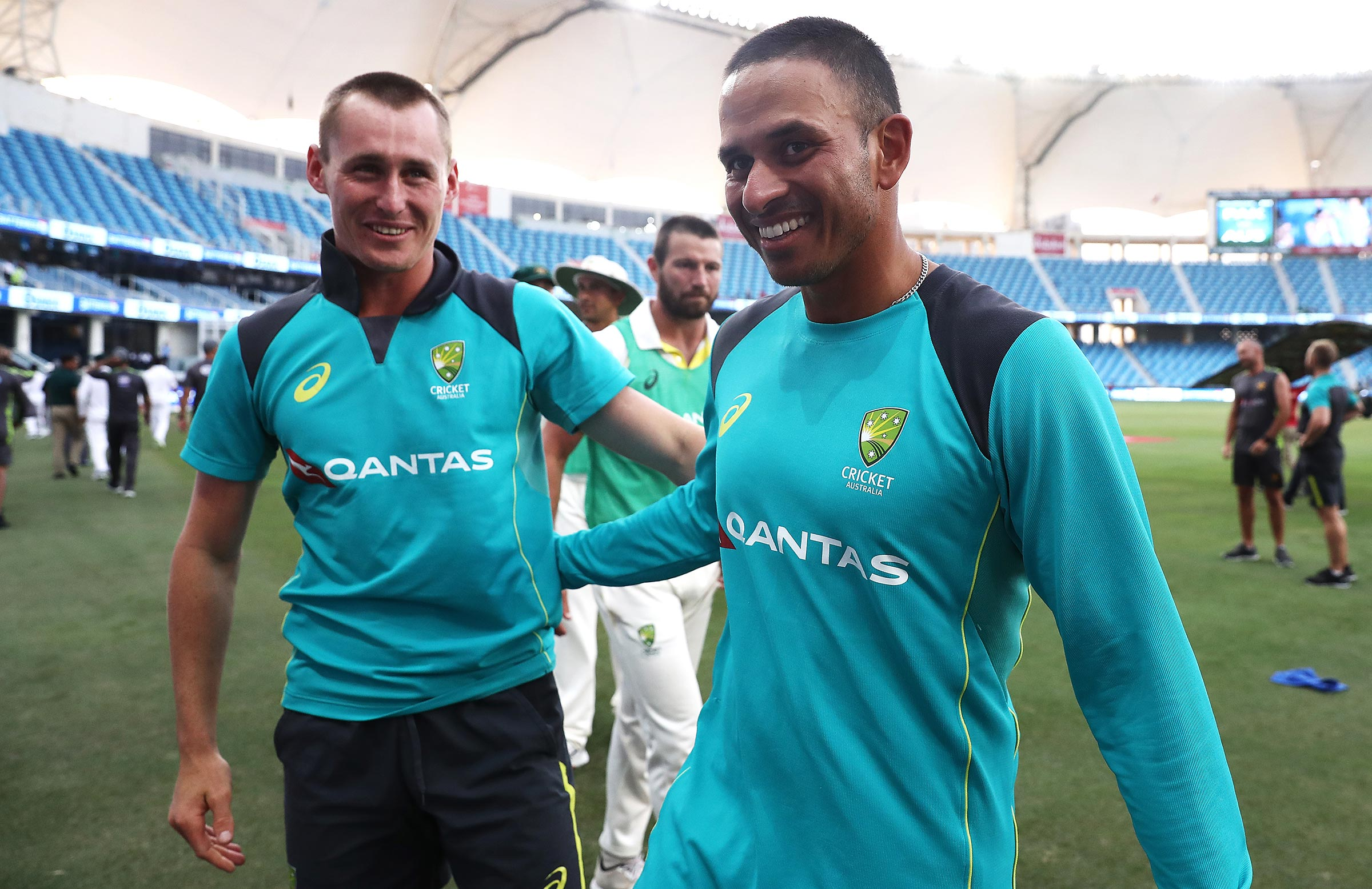 Labuschagne and Khawaja have formed a tight bond // Getty