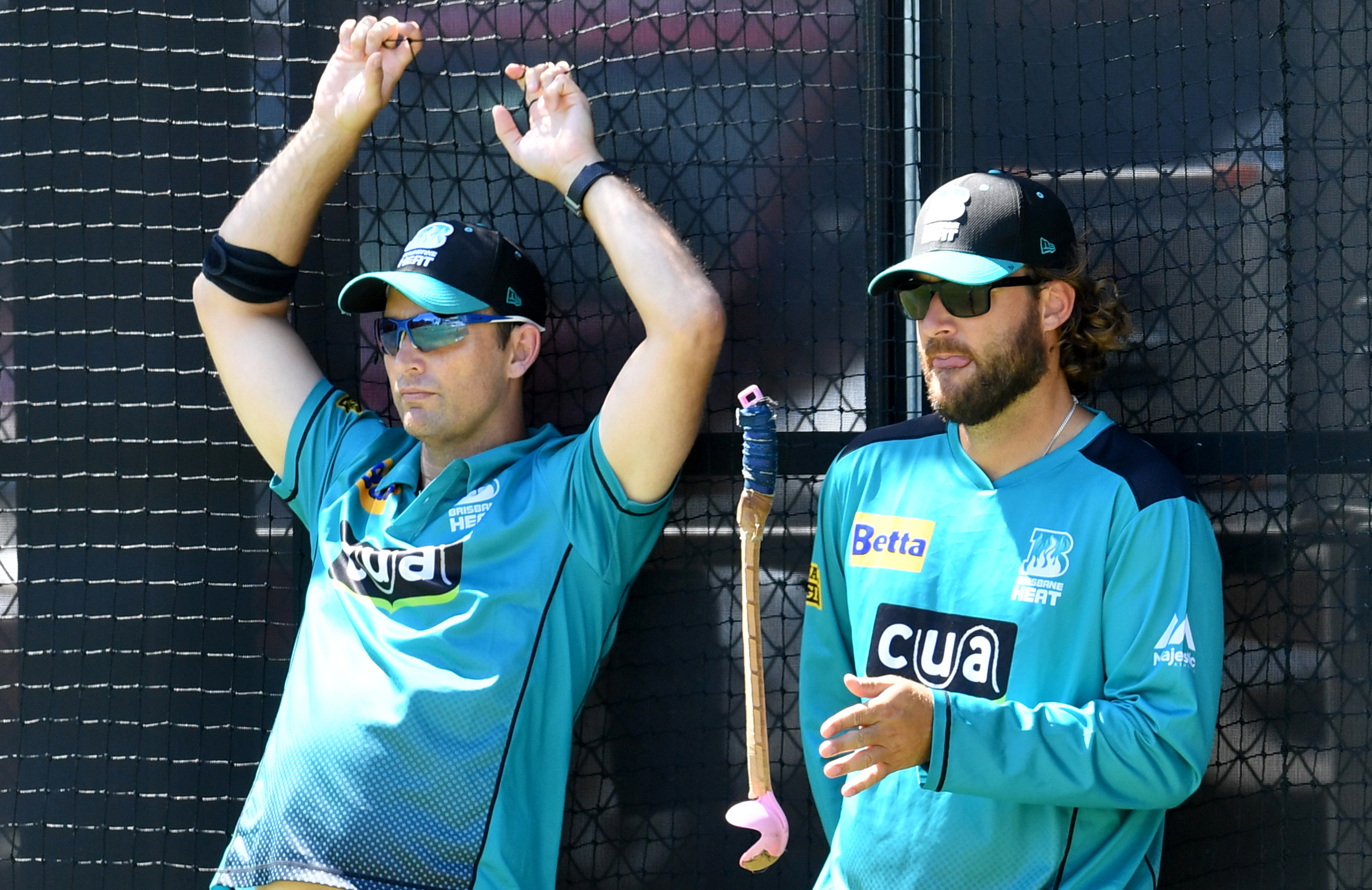 Bond (left) and Vettori (right) are former Heat colleagues and NZ teammates // Getty