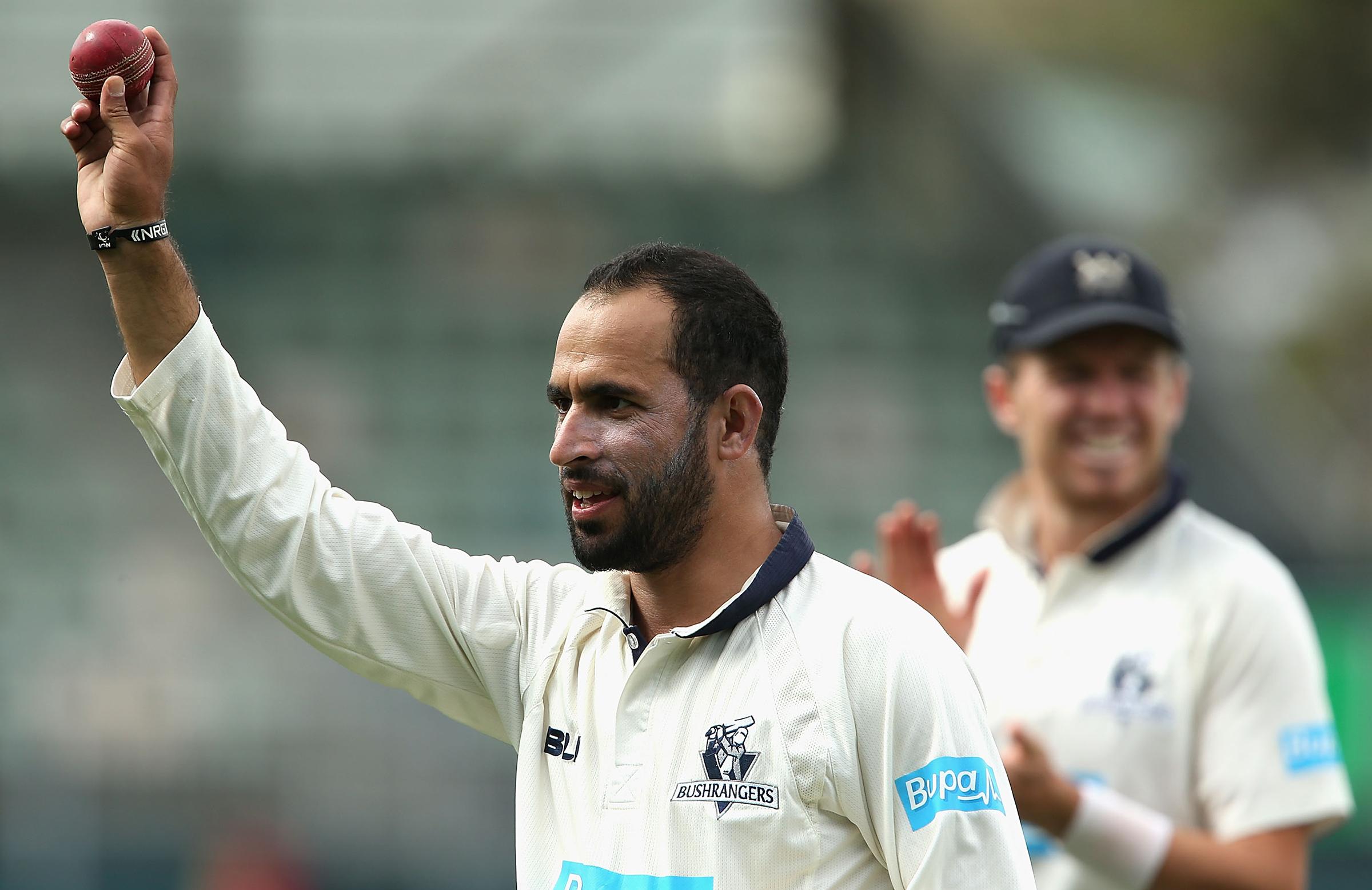 Fawad took an eight-wicket haul in Victoria's 2015 Sheffield Shield final win // Getty