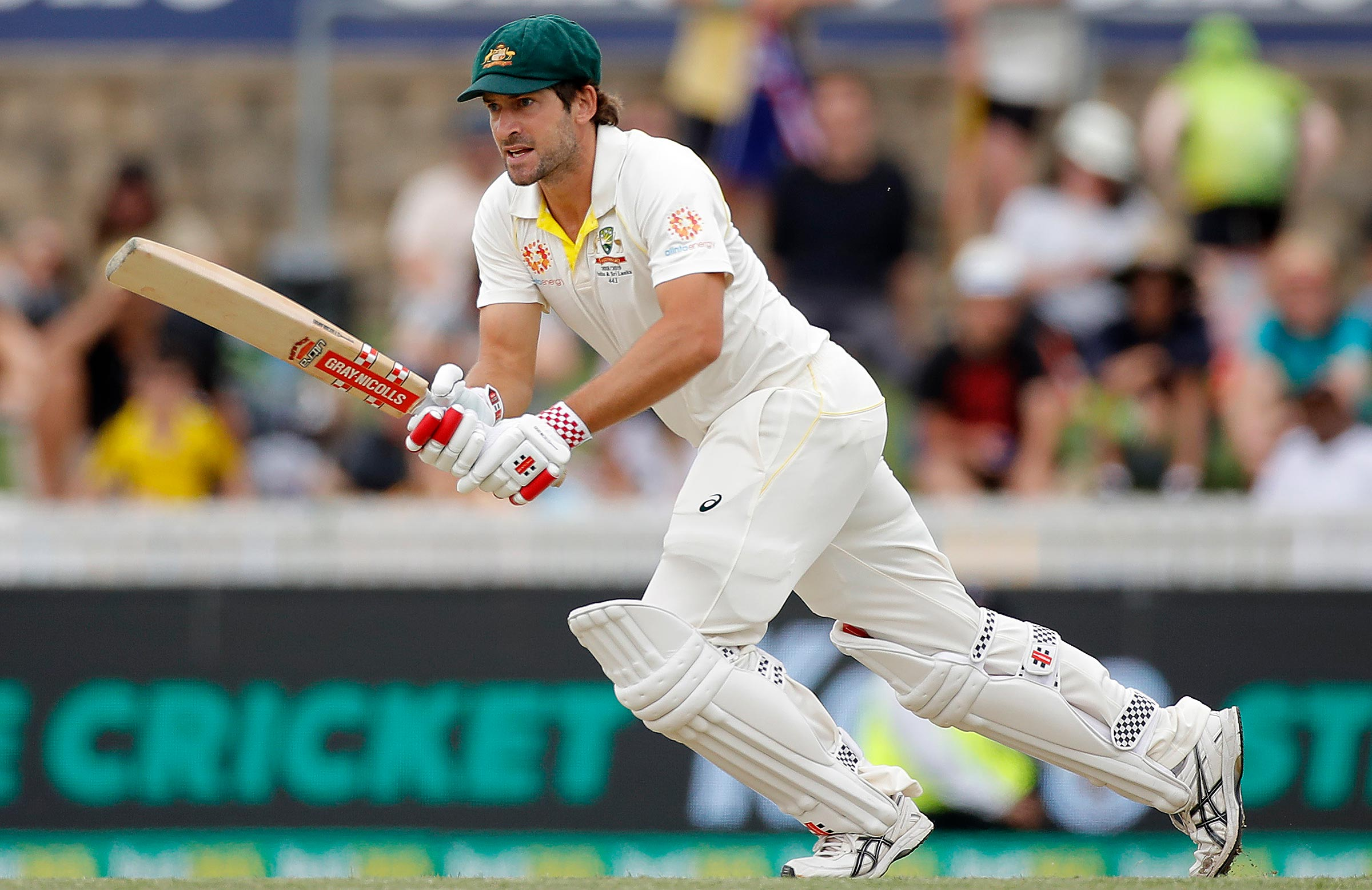 Burns during his career-best score in Canberra // Getty