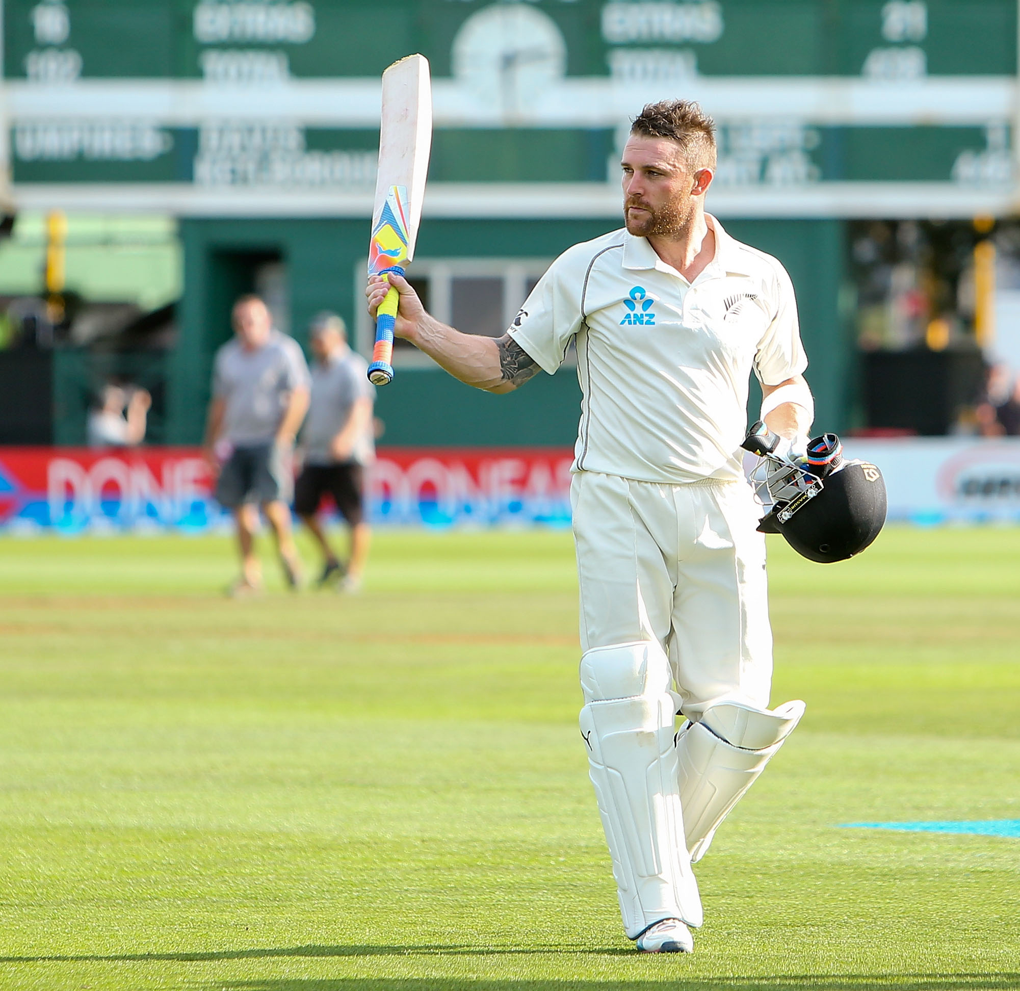 McCullum walks off unbeaten on 281 at stumps on day four // Getty