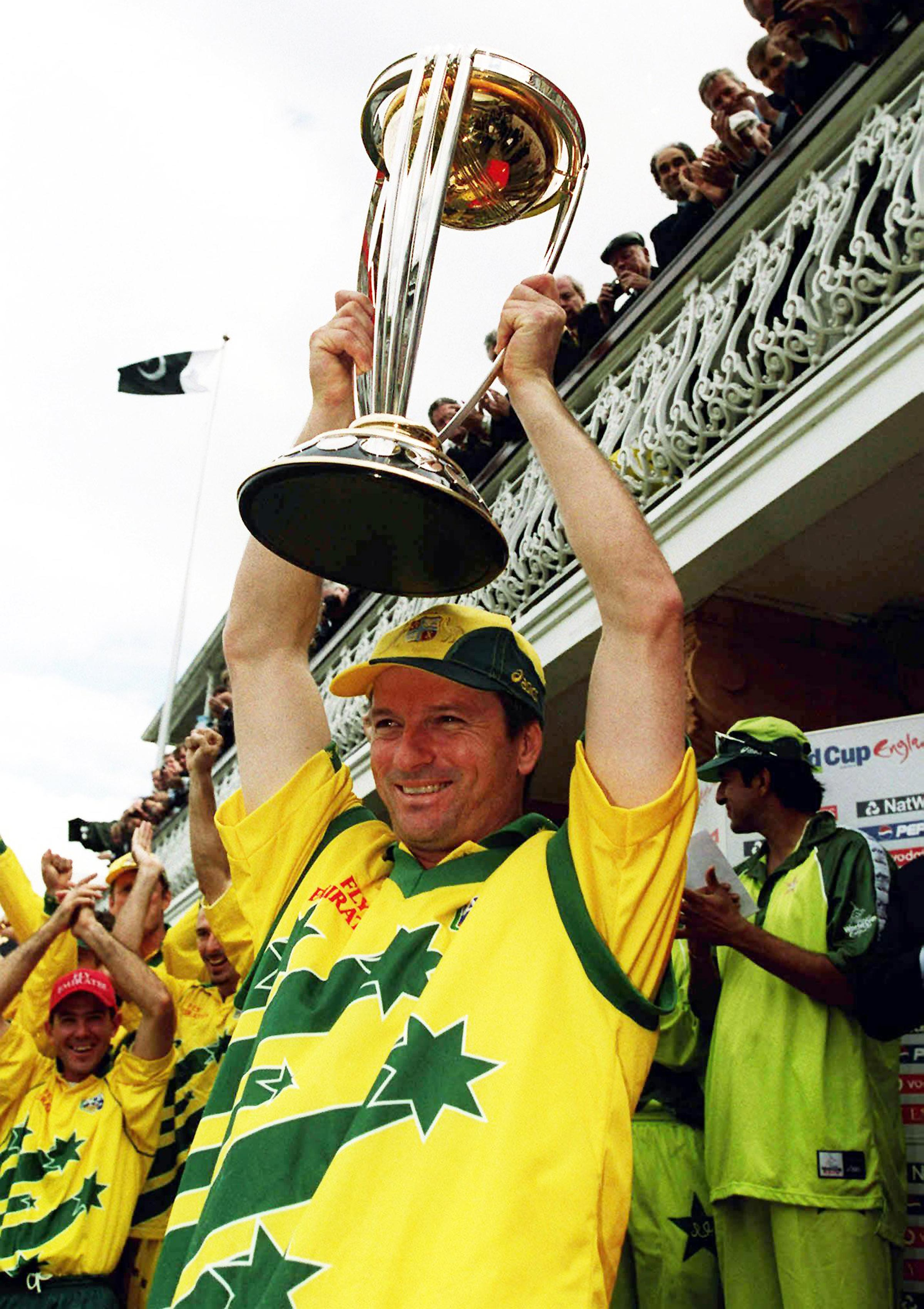 Steve Waugh lifts the trophy