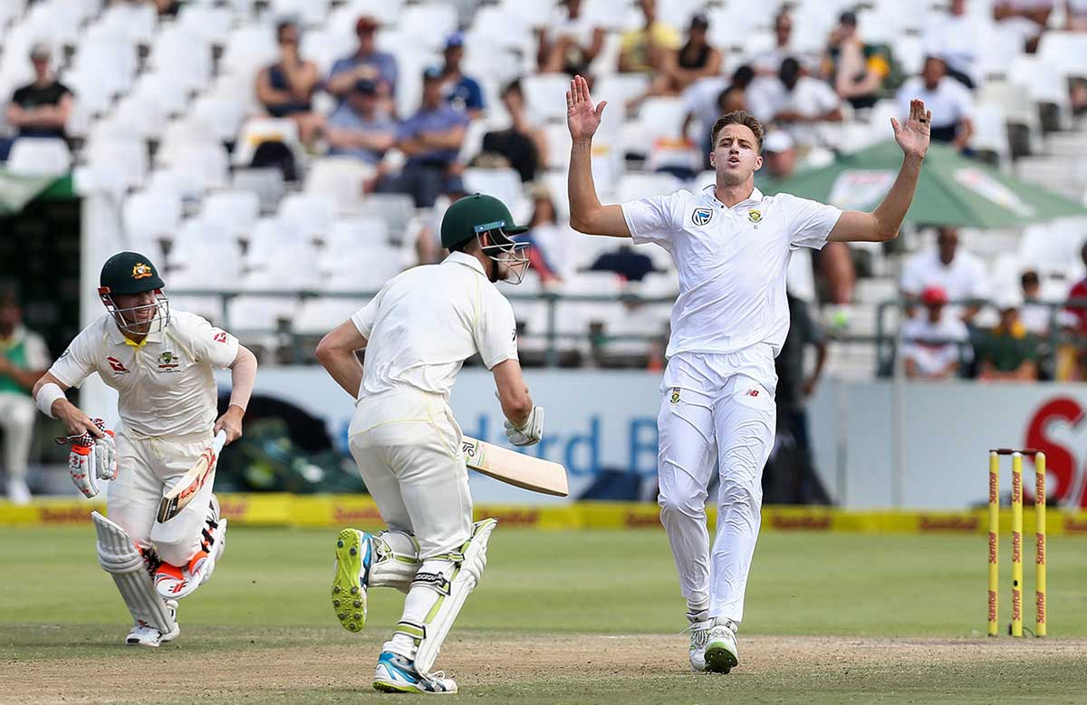 Warner, Bancroft and Morkel at Cape Town // Getty