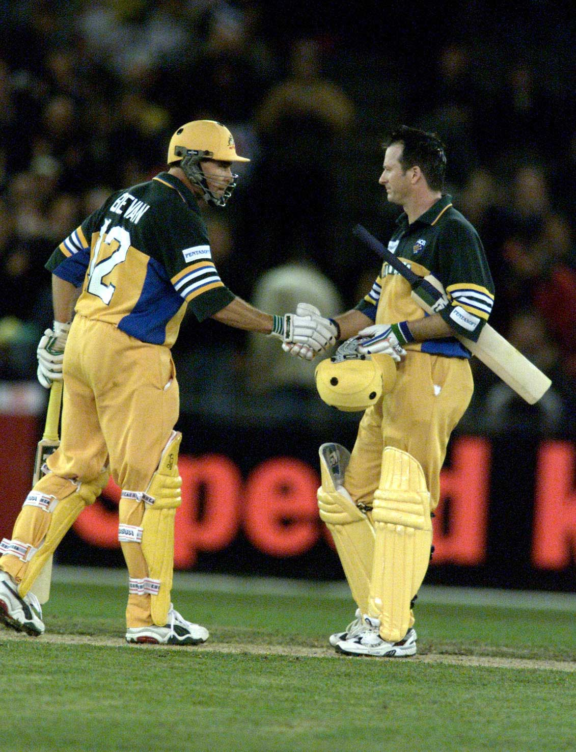 Bevan and Waugh torched the Proteas under the roof