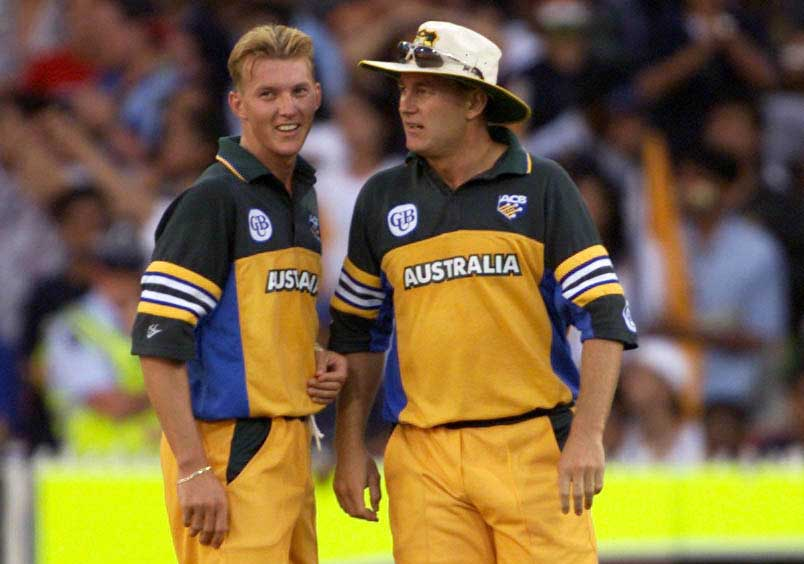 Brett and Shane Lee after running out Sachin