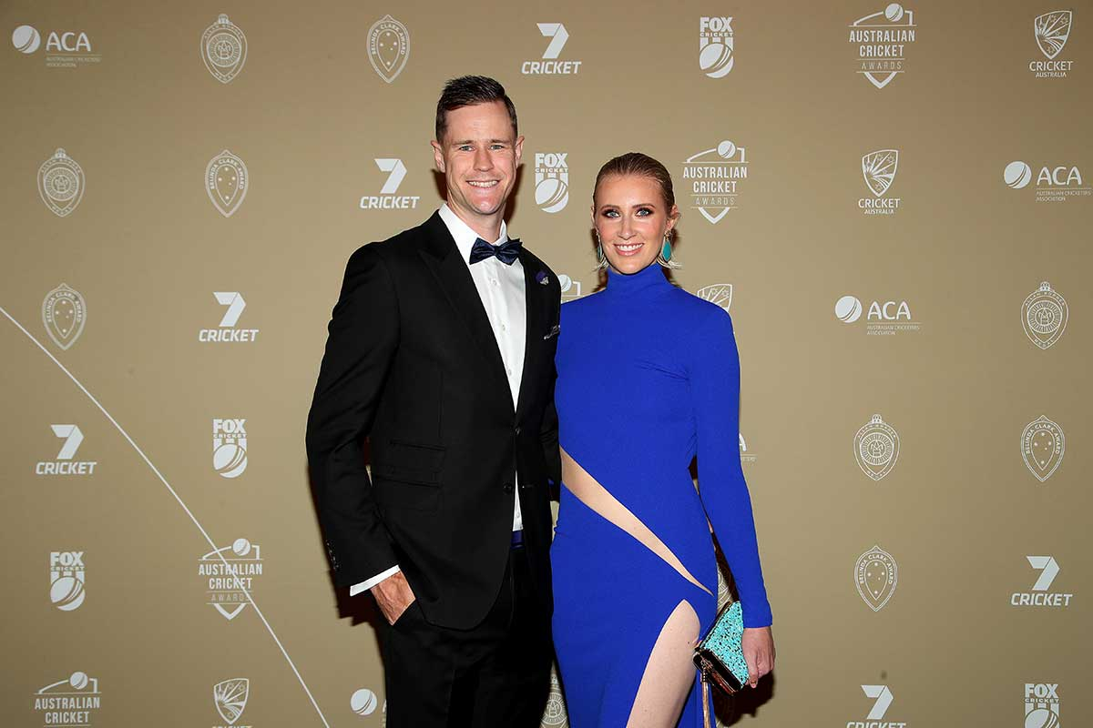Jason Behrendorff and wife Juvelle // Getty