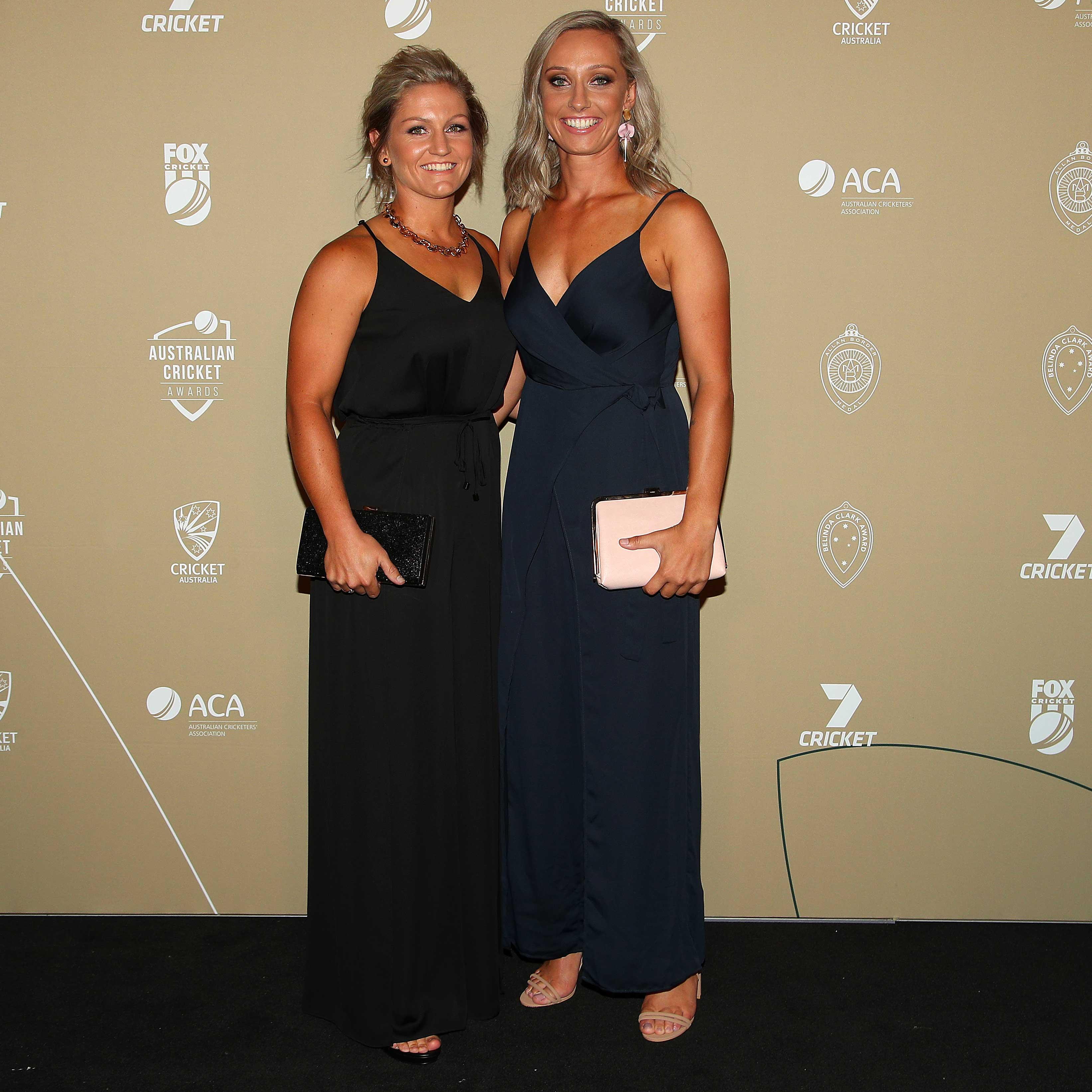 Ashleigh Gardner (right) and partner Bridget Patterson // Getty