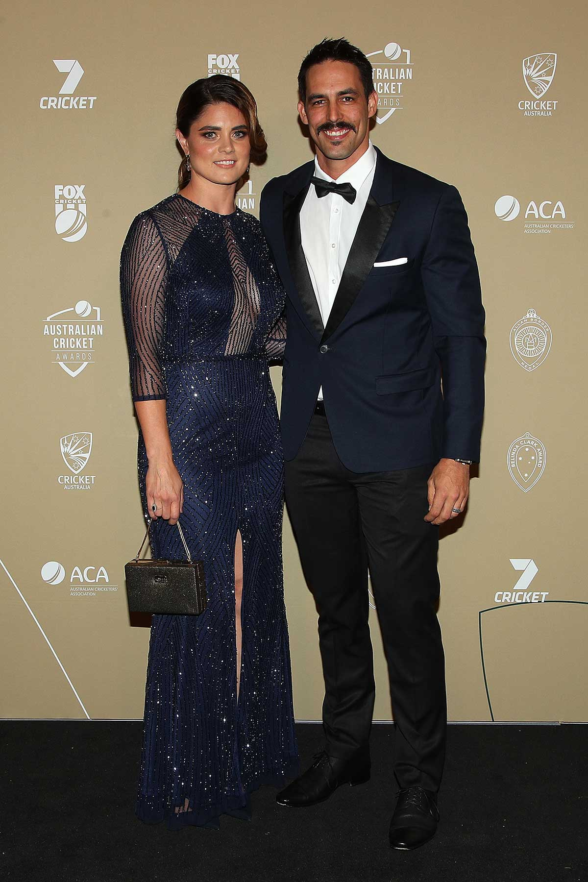 Mitchell Johnson and wife Jessica Bratich-Johnson // Getty
