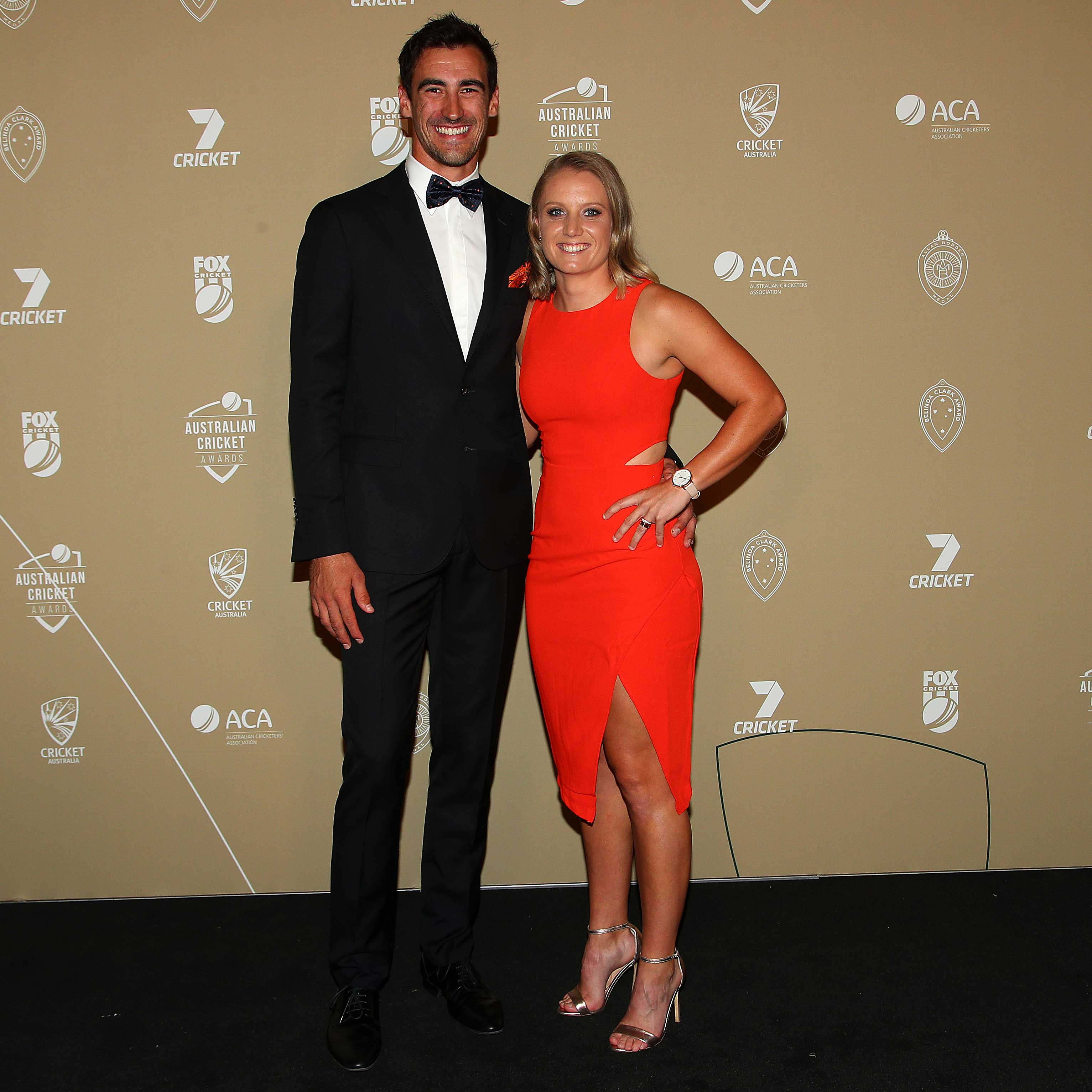Mitchell Starc and Alyssa Healy // Getty