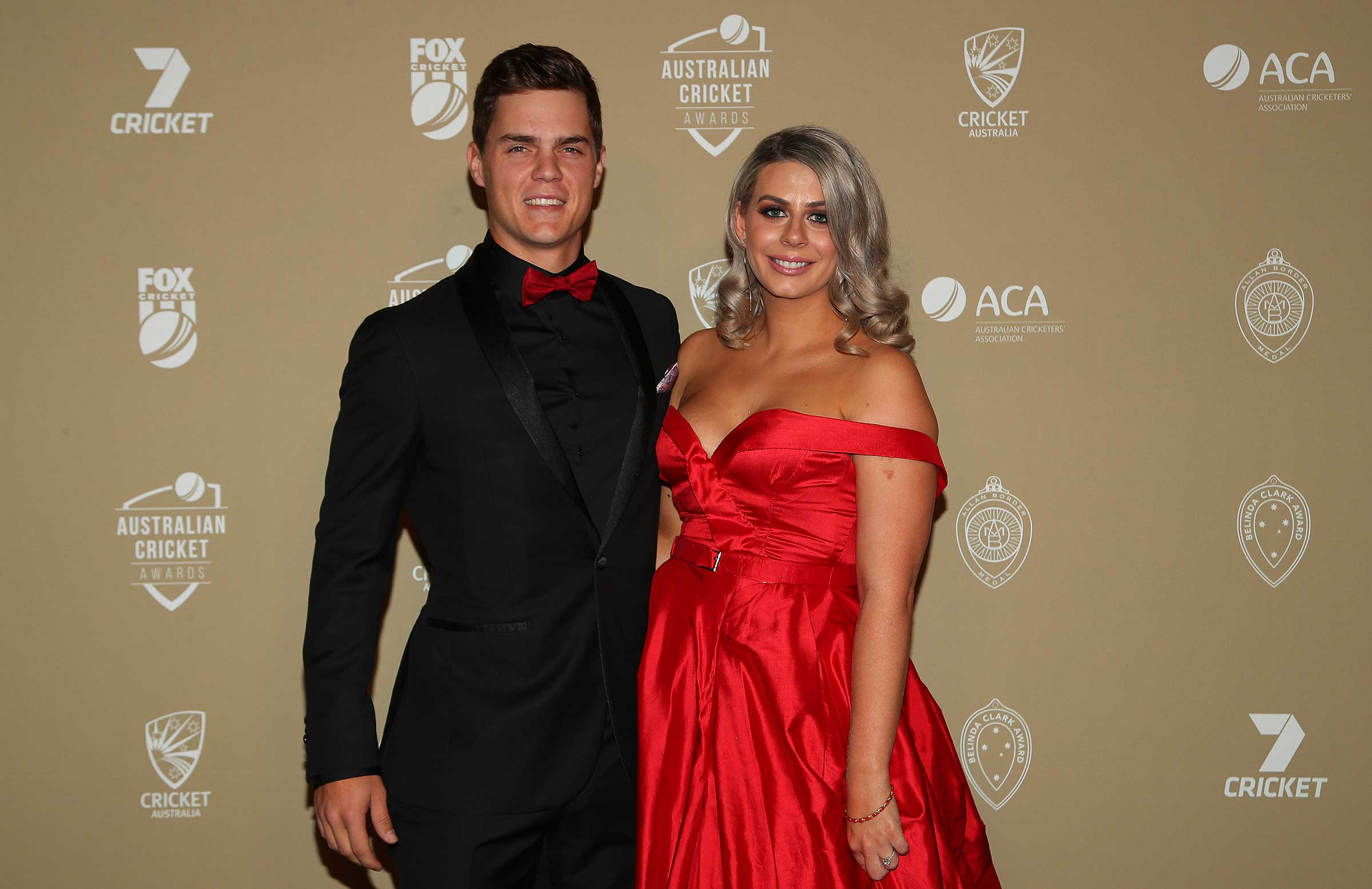 Mitch Swepson and partner Jessica Thorpe // Getty