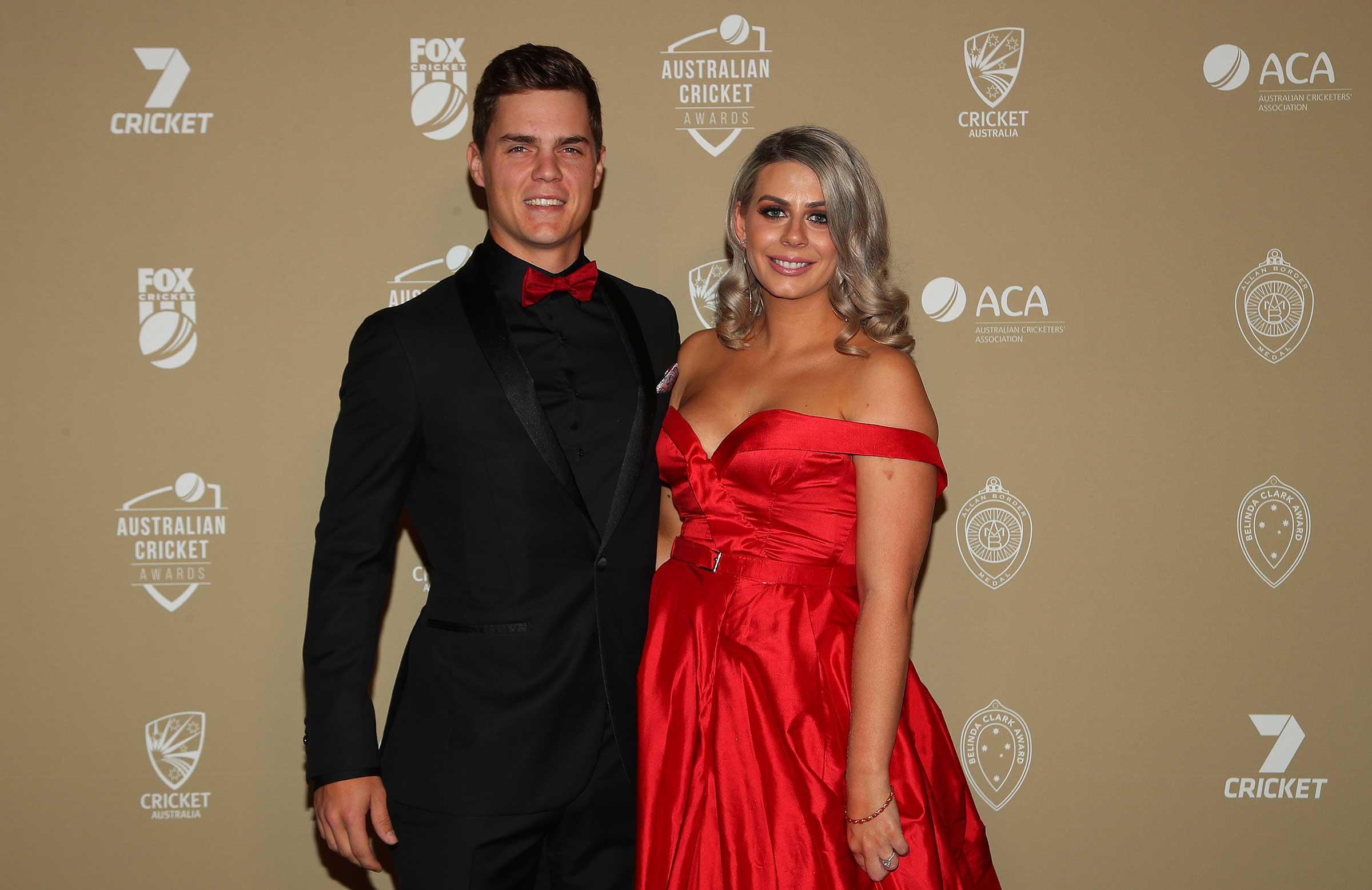 Mitch Swepson and partner Jessica Thorpe // Getty