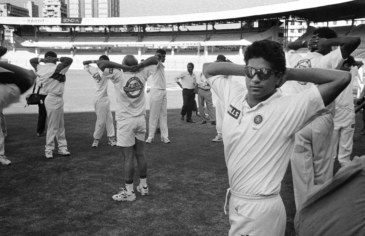 Sachin Tendulkar warming up at Wankhede Stadium // Trent Parke / Magnum Photos