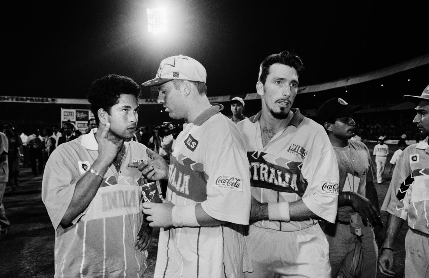 Sachin Tendulkar, Shane Warne and Damien Fleming // Trent Parke / Magnum Photos