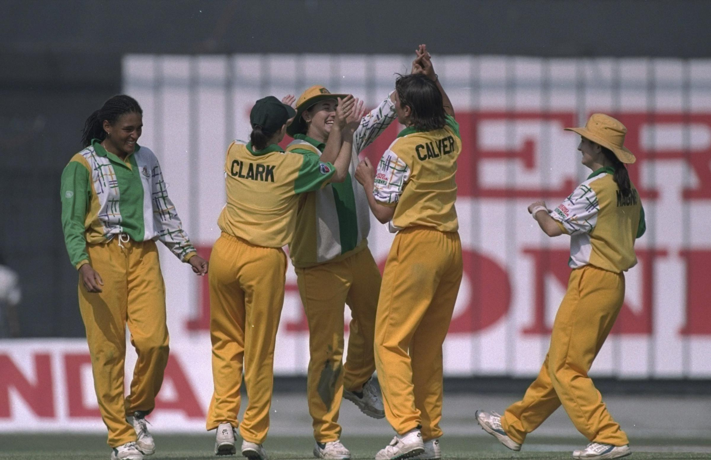 Australia in their 1997 World Cup kit // Getty