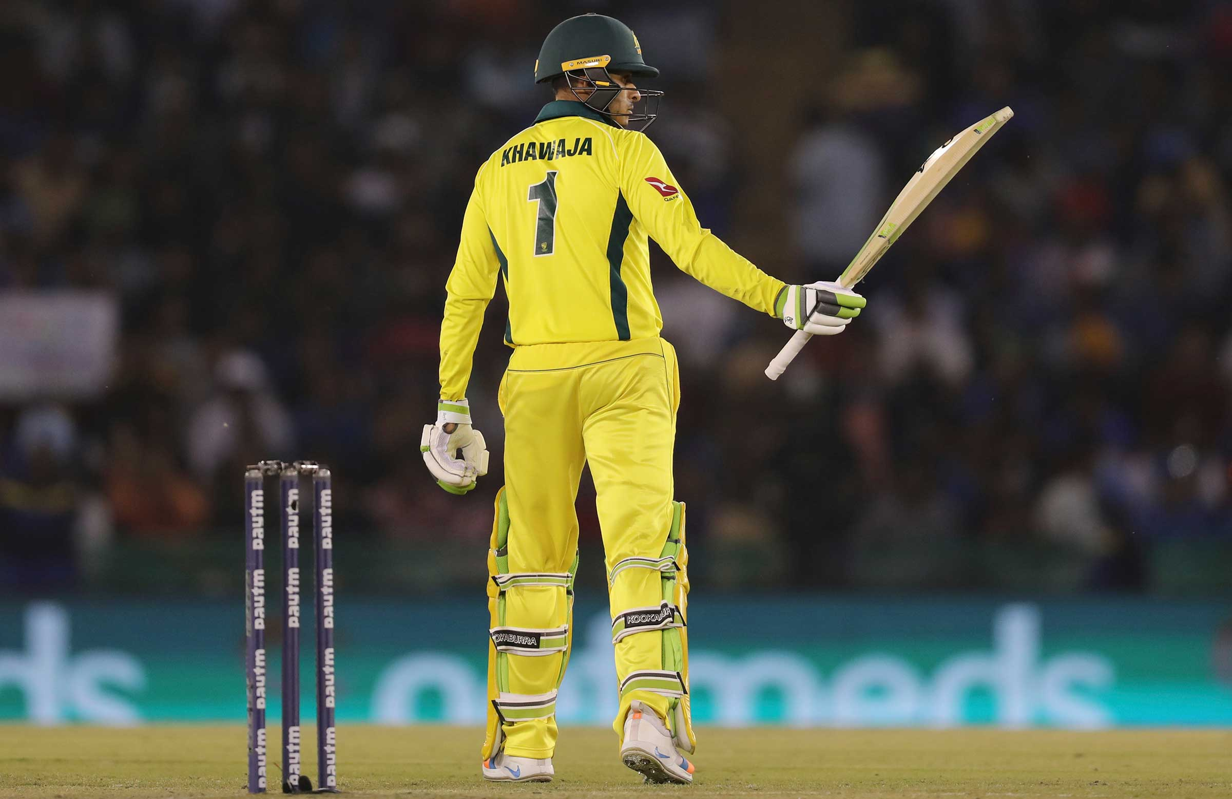 Khawaja added 91 to the 104 hit hit on Friday // Getty