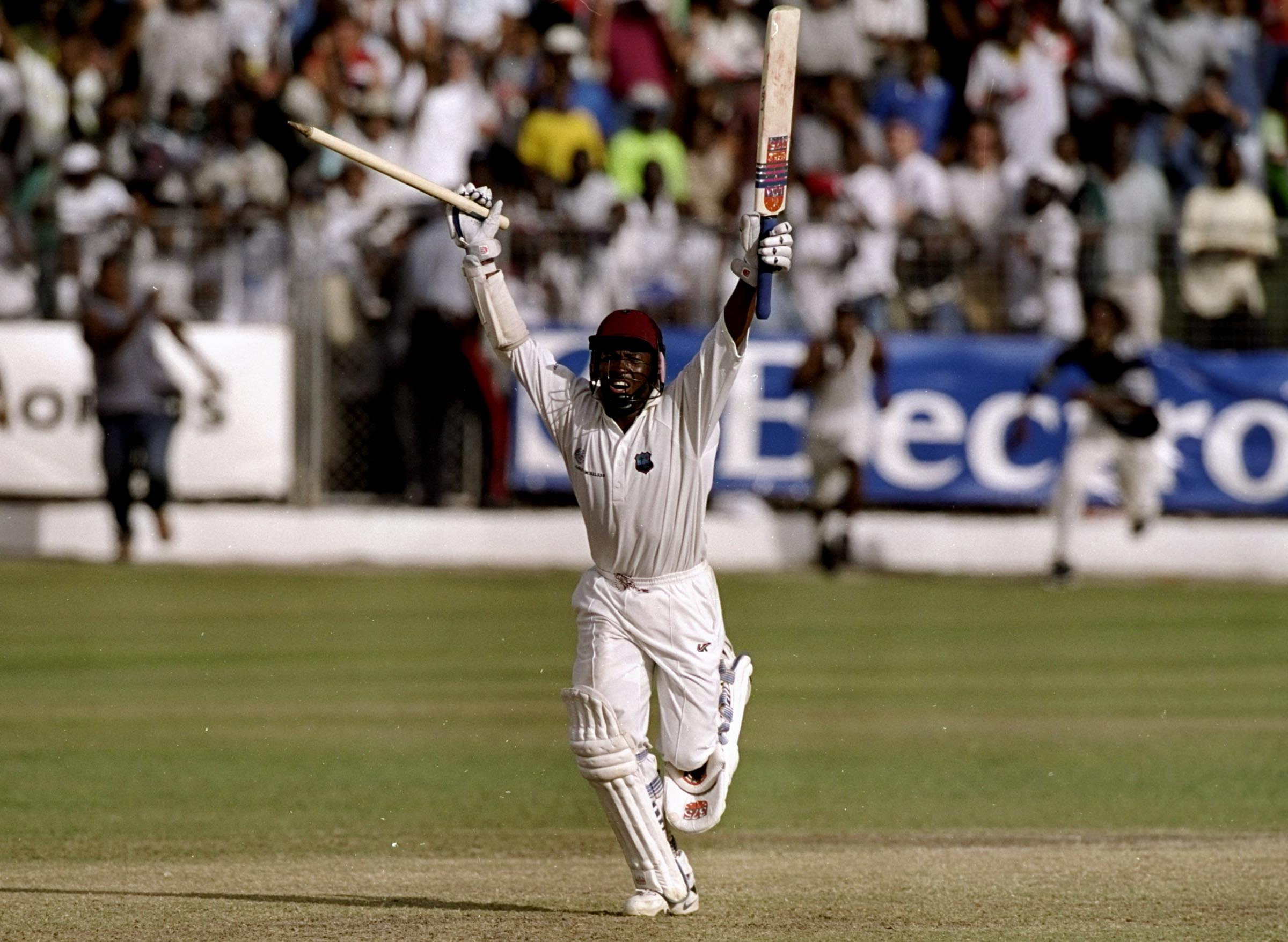 Lara celebrates one of the great all-time Test innings // Getty
